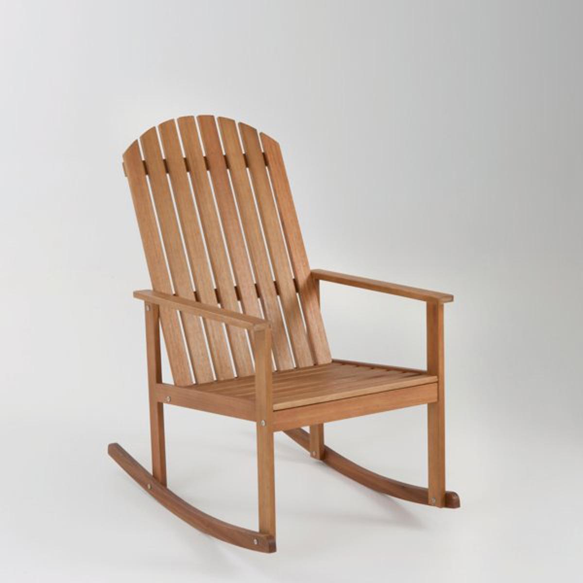 Кресло-качалка из эвкалиптового дерева с лейблом FSC от La Redoute