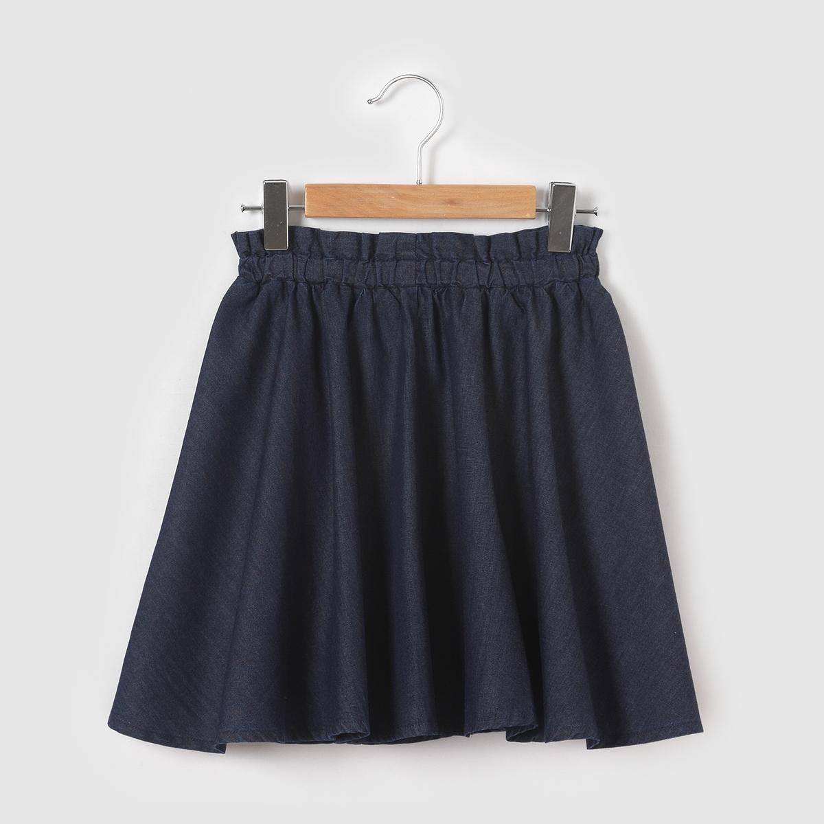 цена Юбка La Redoute Расклешенная джинсовая 3 года - 94 см синий онлайн в 2017 году