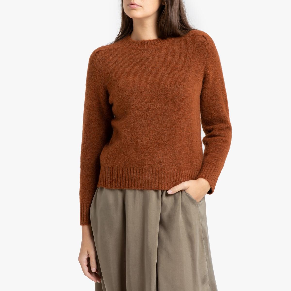 Пуловер La Redoute С круглым вырезом из плотного трикотажа ENVIE 38 (FR) - 44 (RUS) каштановый пуловер la redoute с круглым вырезом из плотного трикотажа 3xl бежевый