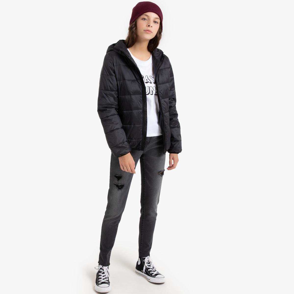 Куртка La Redoute С капюшоном 10-16 лет 10 лет - 138 см черный парка la redoute с капюшоном с искусственным мехом лет 10 лет 138 см черный