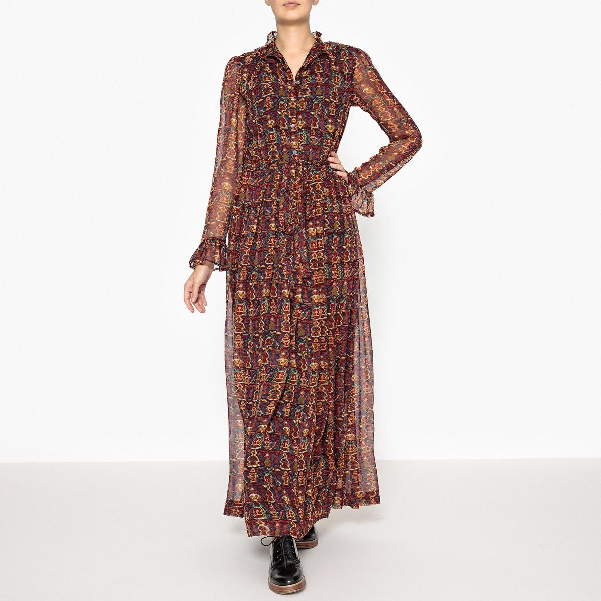 Платье с рисунком MERYS LONG DRESS