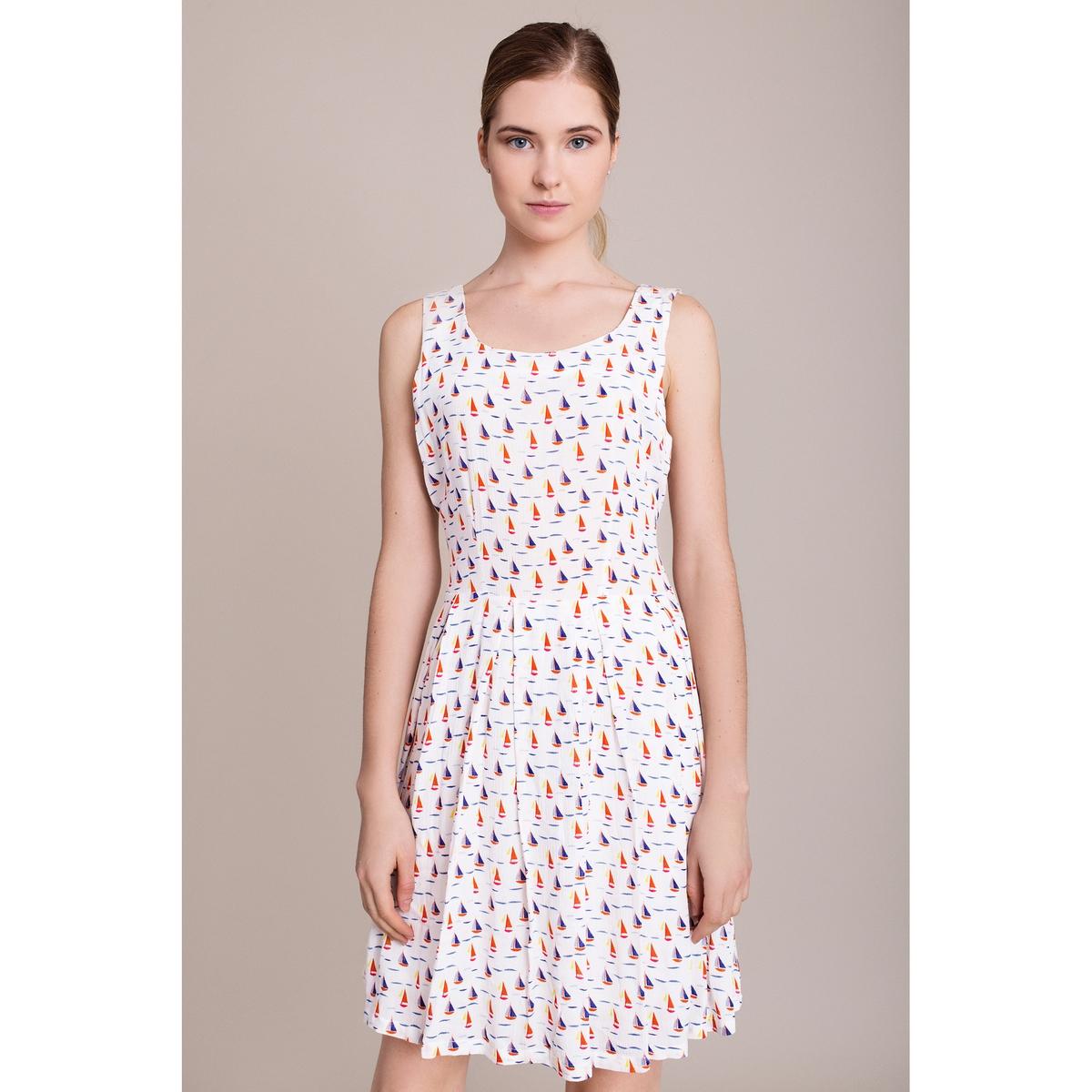 Платье без рукавов MIGLE AND MEСостав и описание :Материал : 100% полиэстераМарка : MIGLE AND ME<br><br>Цвет: белый наб.рисунок