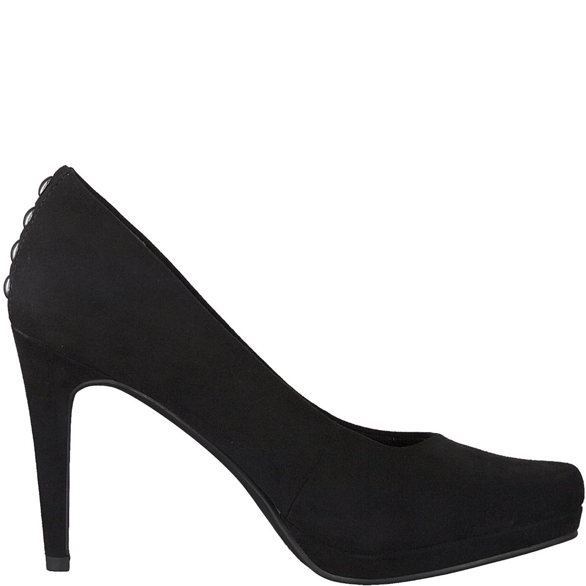 Туфли кожаныеДетали  •  Каблук-шпилька •  Высота каблука : 9,5 см •  Застежка : без застежки •  Круглый мысокСостав и уход  •  Верх 100% текстиль •  Подкладка 50% синтетического материала, 50% текстиля •  Стелька 100% синтетический материал<br><br>Цвет: черный