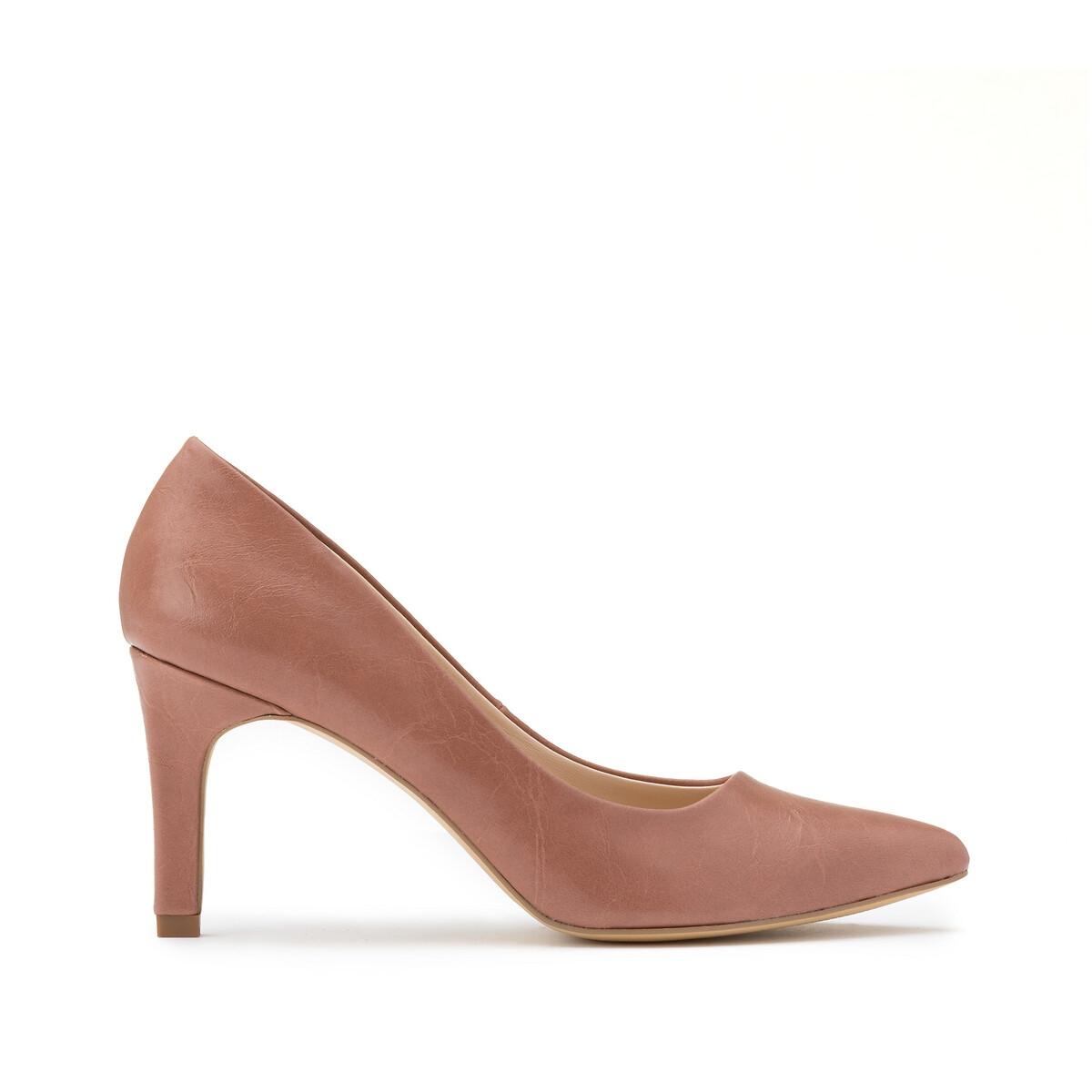 Туфли LaRedoute На высоком каблуке 38 розовый