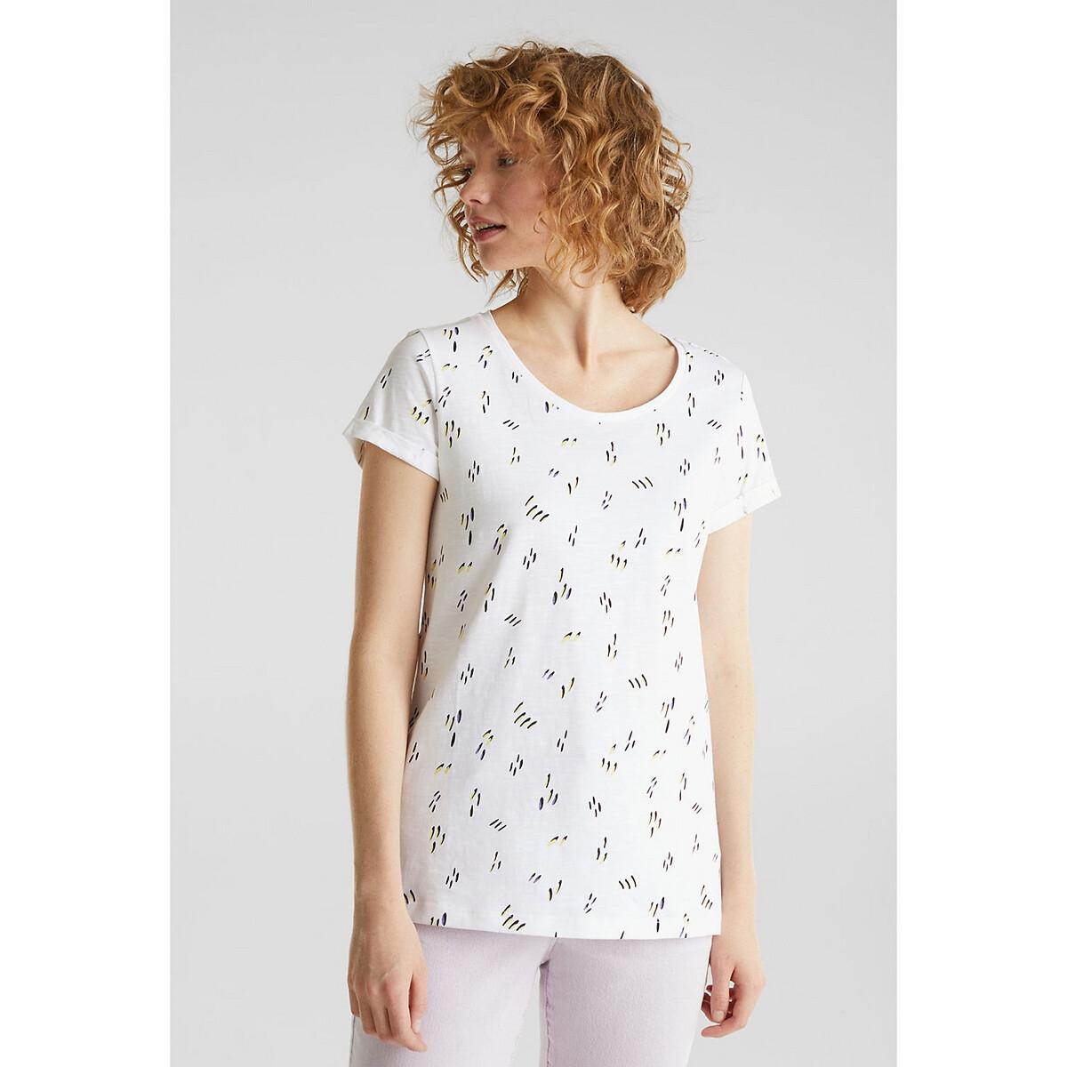 Camiseta con cuello redondo de algodón orgánico