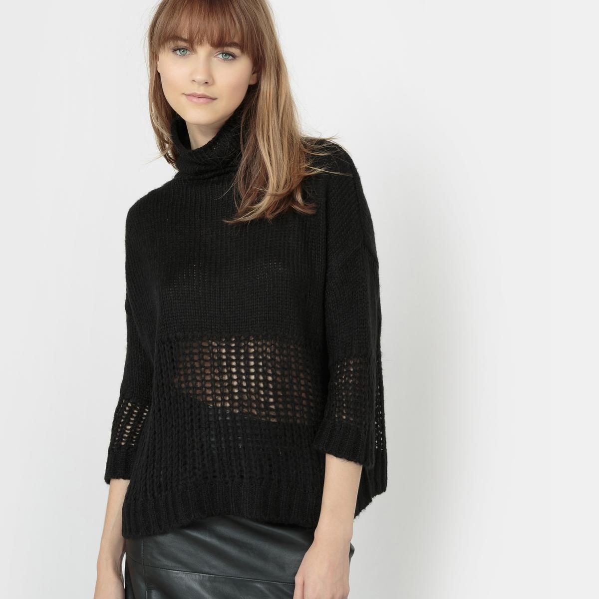 Пуловер с высоким воротником - PRISMAСостав и описаниеМатериал: 97% акрила, 3% шерсти.     Марка: SCHOOL RAG.<br><br>Цвет: черный<br>Размер: XS