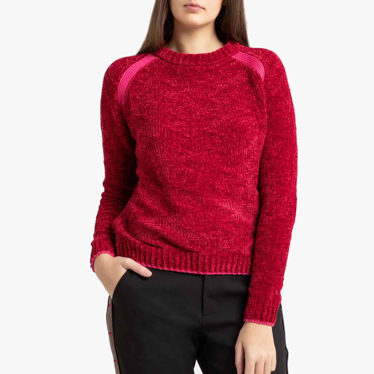 Пуловер La Redoute С круглым вырезом из тонкого трикотажа M красный пуловер la redoute с круглым вырезом из тонкого трикотажа m красный