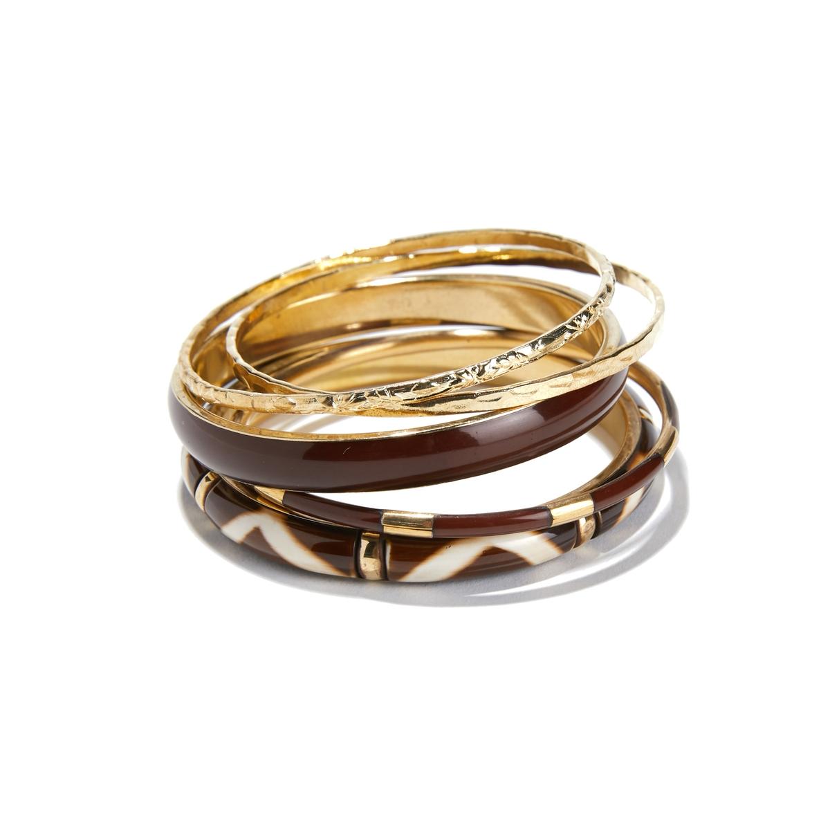 Confezione di bracciali in metallo e resina
