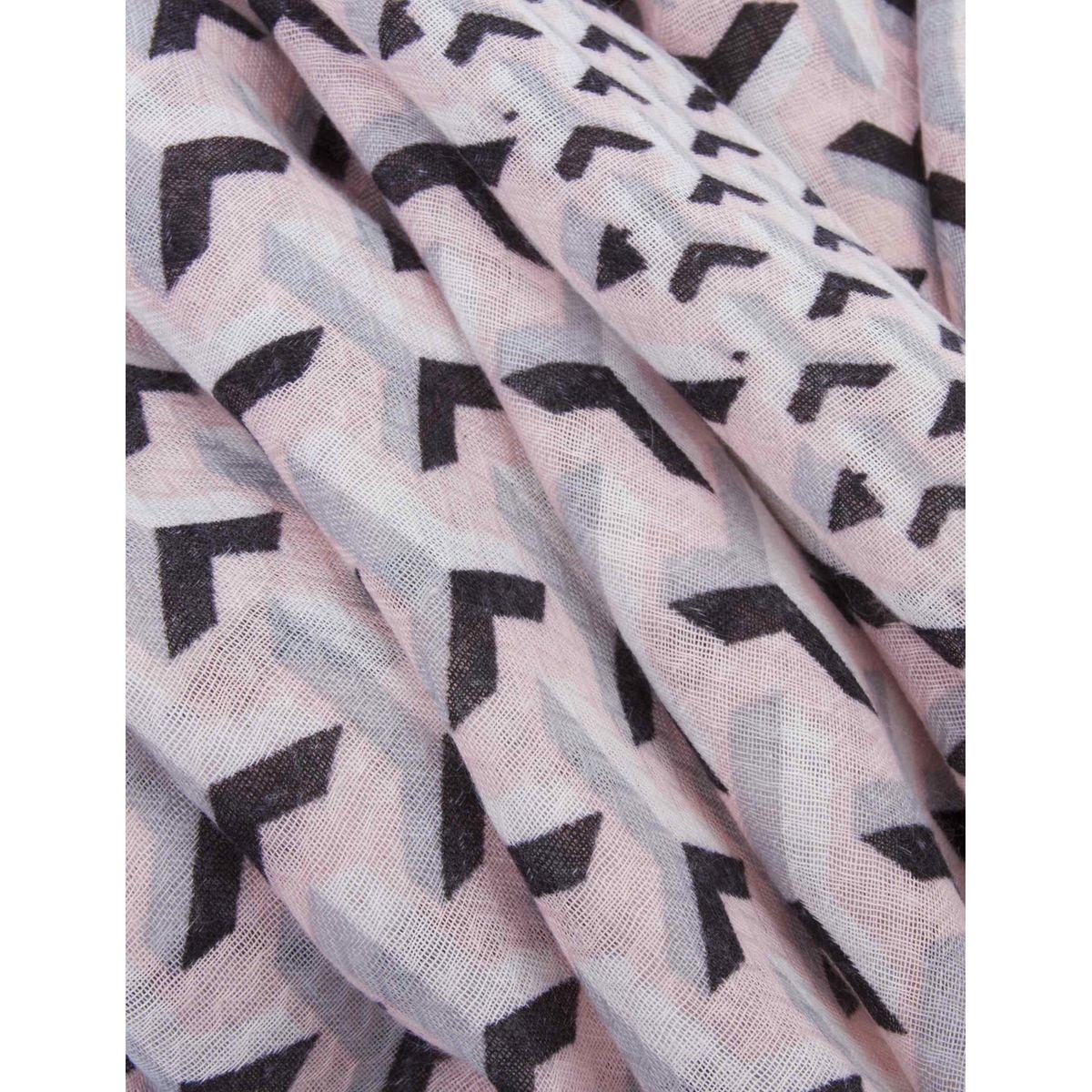 Foulard à imprimé géométrique