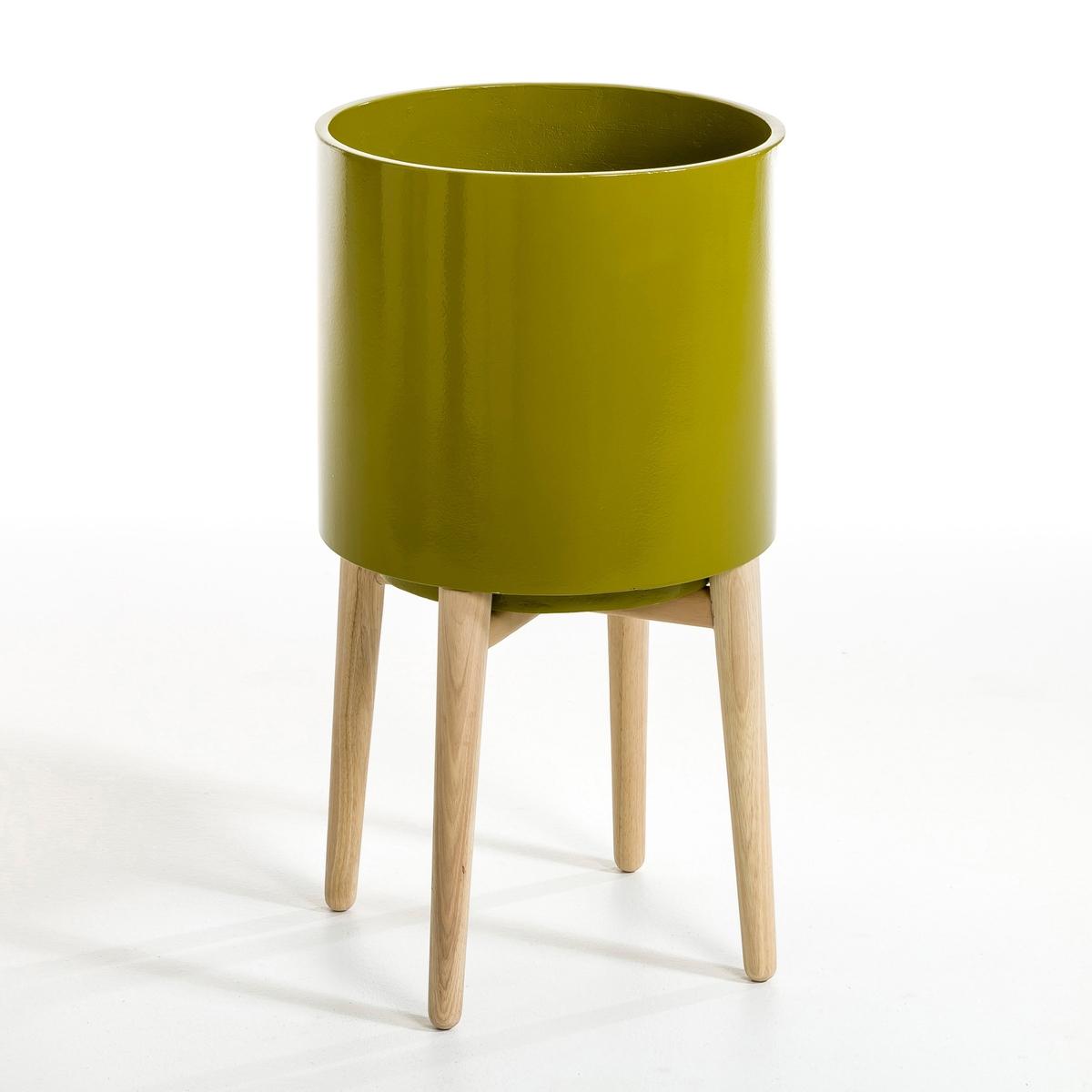 Кашпо Выс58,5 см, FlorianДекоративный кашпо из керамики с подставкой из дерева  . Идеален для украшения ваших цветов . Описание :  - Из керамики    Подставка из гельвеи    Размеры : - ?34 x 58,5 см<br><br>Цвет: желтый горчичный