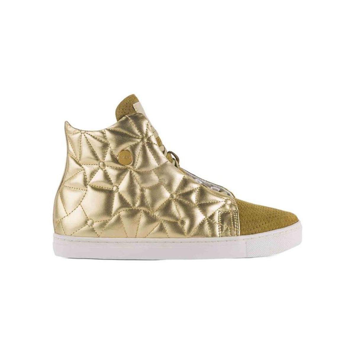 Baskets cuir BASKETS  CRISTAL GOLD