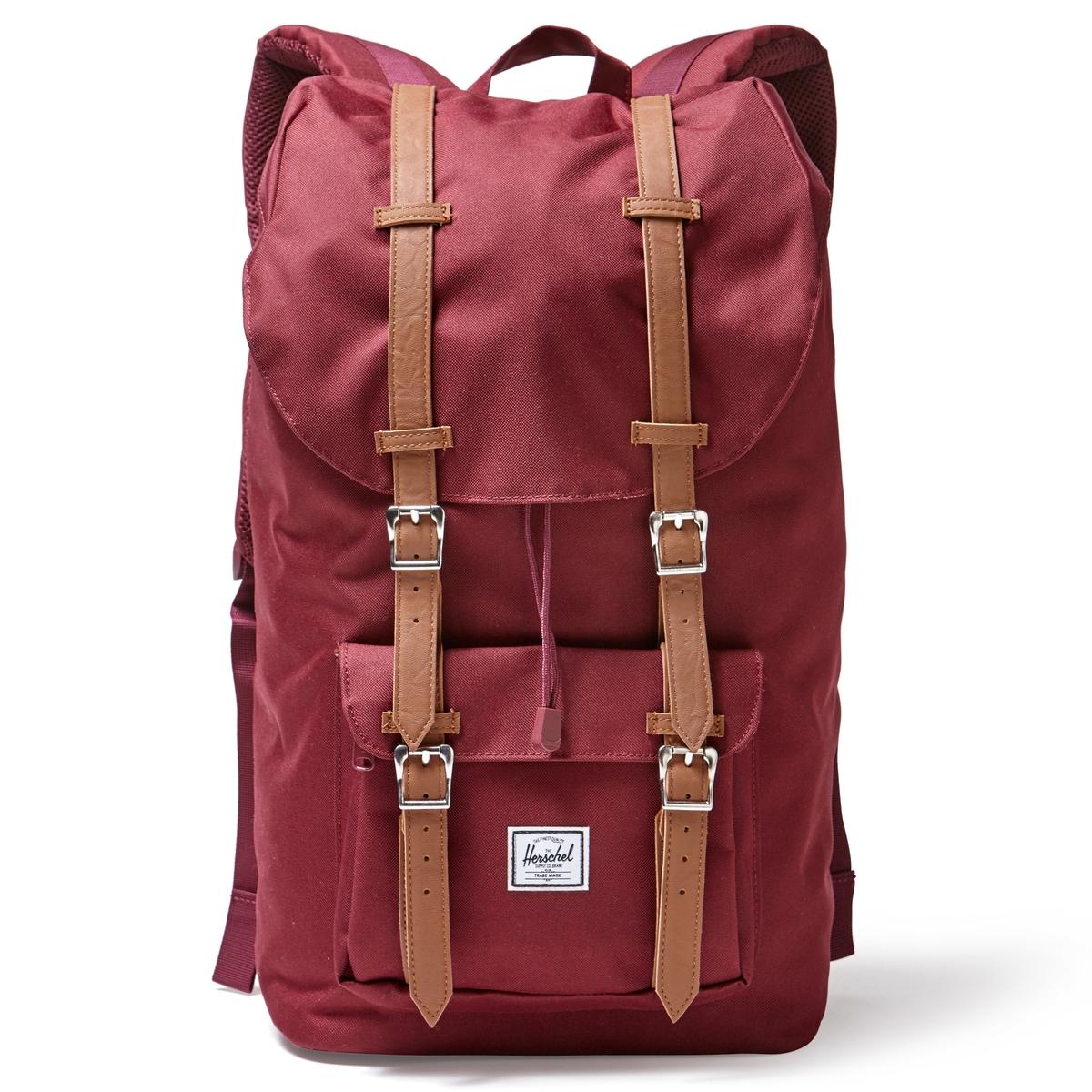 Рюкзак LITTLE AMERICA 25Л с карманом  для ноутбукаОписание:Рюкзак HERSCHEL. 100% полиэстер. Регулируемые ручки. Небольшой внешний карман. Застежка на магниты. Внутреннее отделение для ноутбука.Размеры : 28 x 13 x 45 см.<br><br>Цвет: бордовый