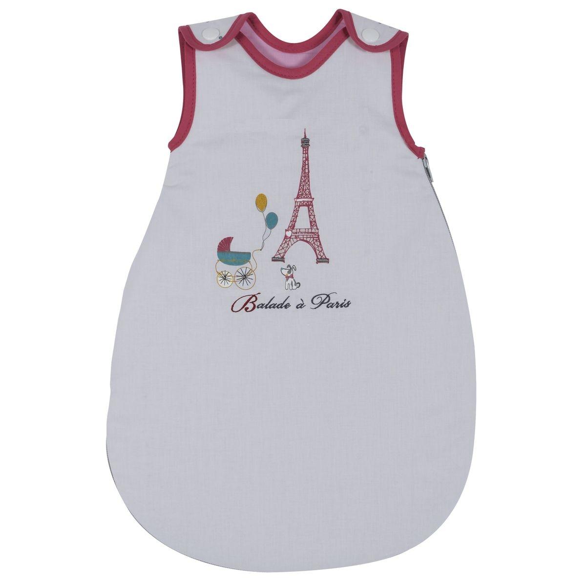 Gigoteuse nourrisson P'tit Basile Collection 'Little Paris' - 0-1 mois - Rose