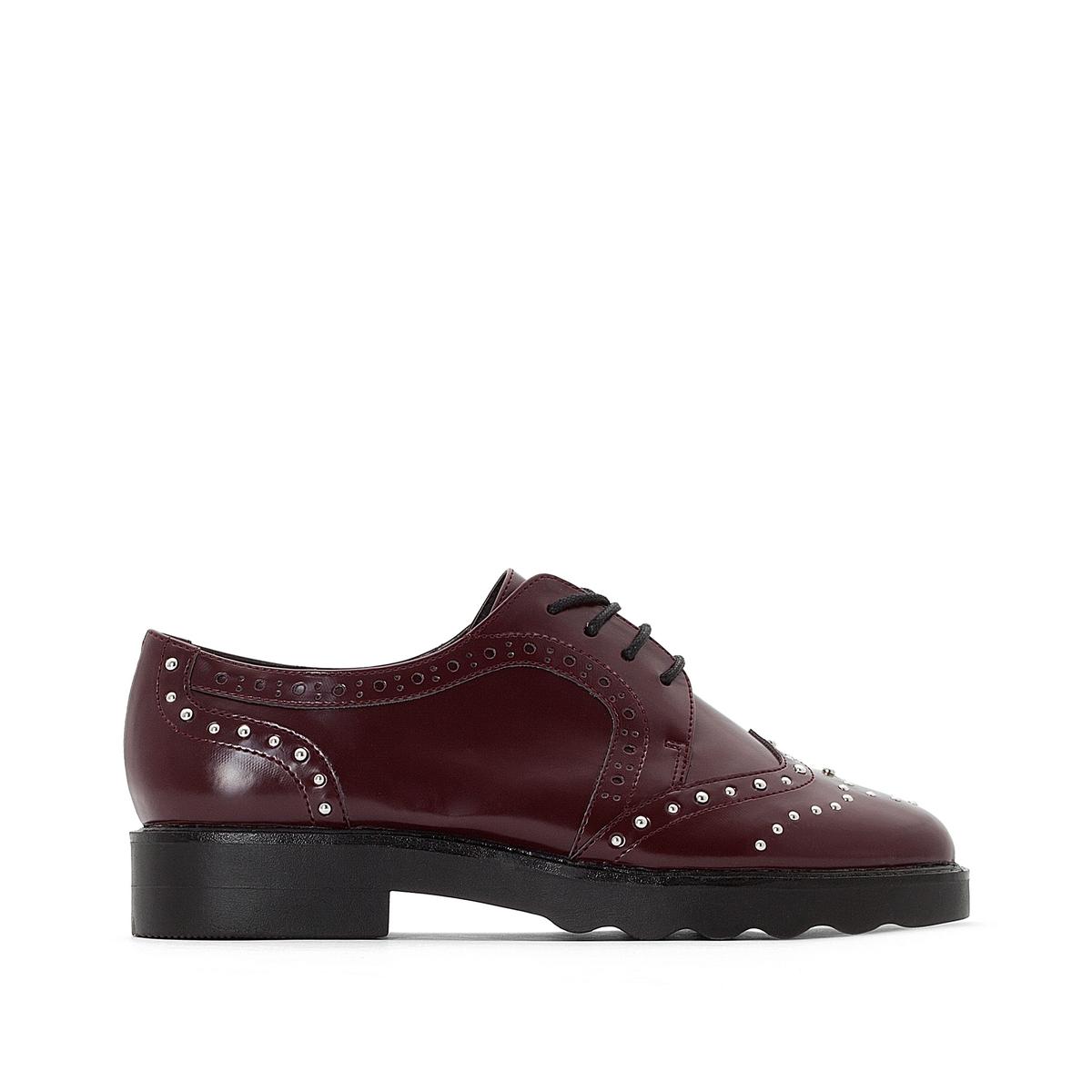 Ботинки-дерби с мыском с цветочным узором