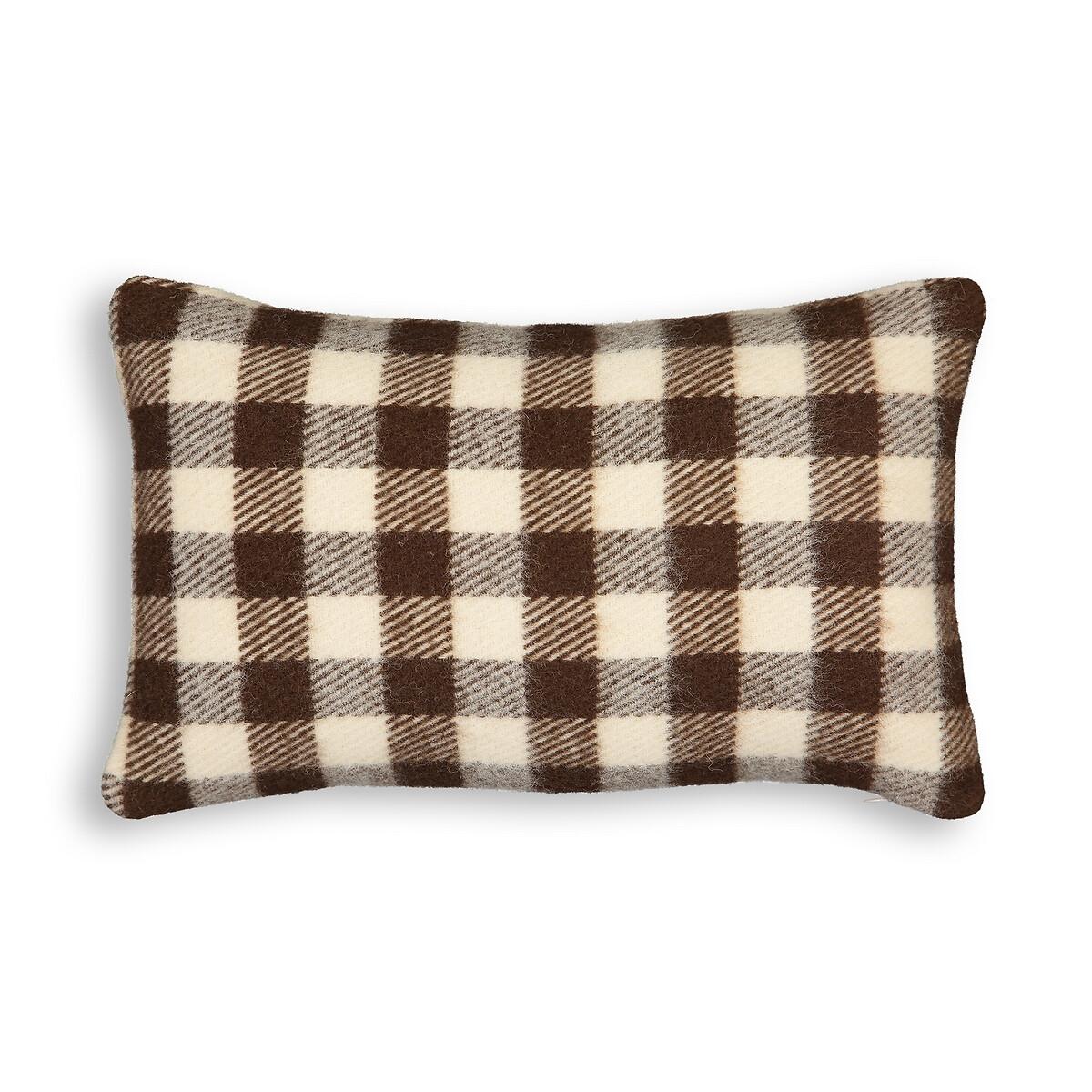 Чехол LaRedoute На подушку из шерсти Alpy 50 x 30 см каштановый