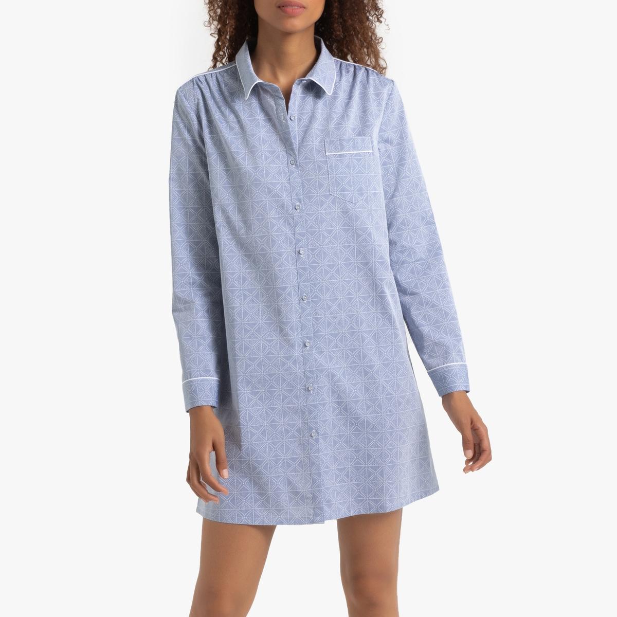 Ночная La Redoute — Рубашка с принтом 52 (FR) - 58 (RUS) синий