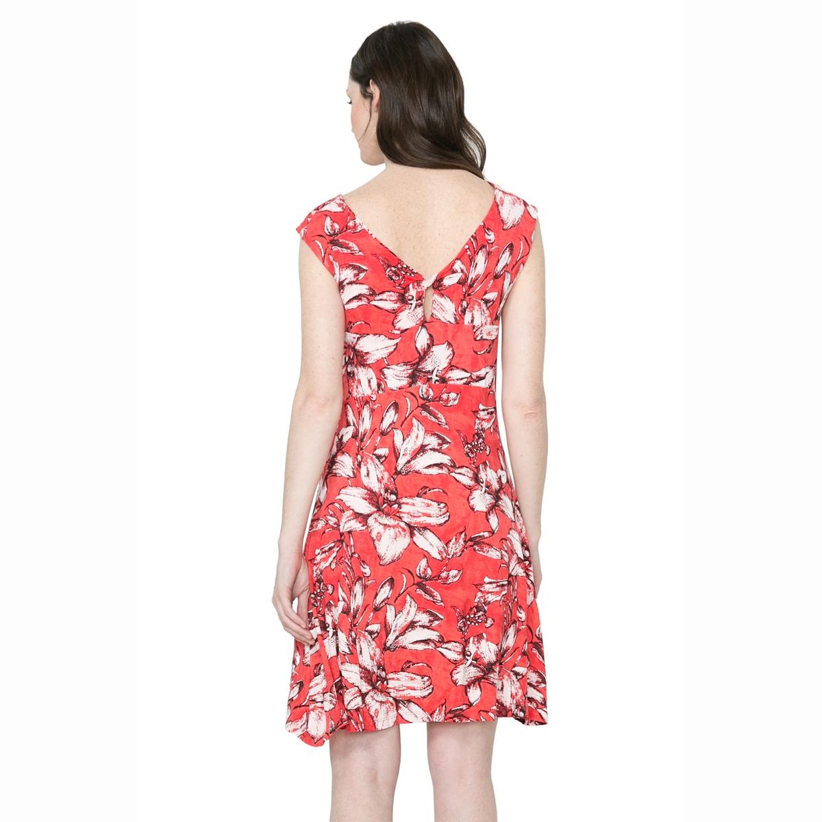 Платье без рукавов, с принтом, вуаль на подкладке  DESIGUAL, Vest Juana платье desigual desigual de002ewoqr00