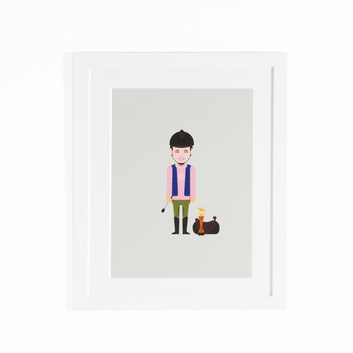 Плакат с рамкой CoriamaiПлакат с рамкой Coriamai . Изображение детей, занимающихся спортом ! 6 плакатей со стилизованными персонажами для создания современного и забавного декора (другме модели продаются на нашем сайте)  .Характеристики : - Плакат из офсетной бумаги 170г/м2 с навесом- Рамка из дсп - Стекло из плексигласа - Крючок для крепления на стену (шурупы и дюбели не входят в комлект)Размеры : - L40 x H50 см<br><br>Цвет: разноцветный