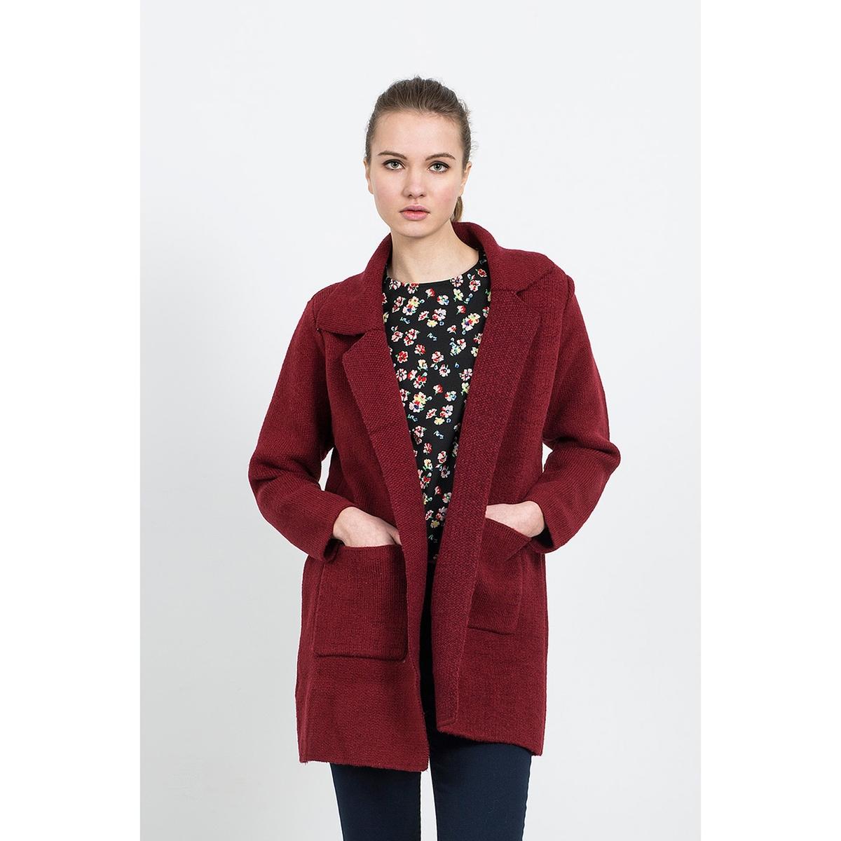Пальто средней длины из 100% шерстиПальто средней длины COMPANIA FANTASTICA. Стильное пальто в этом сезоне оценят многие за его покрой средней длины, напоминающий пиджак, и за материал из 100% вареной шерсти. Состав и описание :Материал : 100% вареной шерсти.Марка : COMPANIA FANTASTICA.Уход: :Ручная стирка.<br><br>Цвет: бордовый