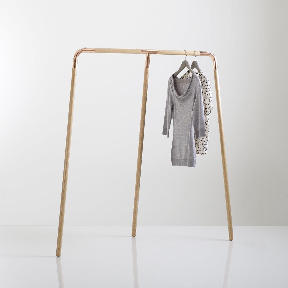 Стойка для одежды из металла и дуба, Elori бра из черного металла и металла с отделкой под латунь elori