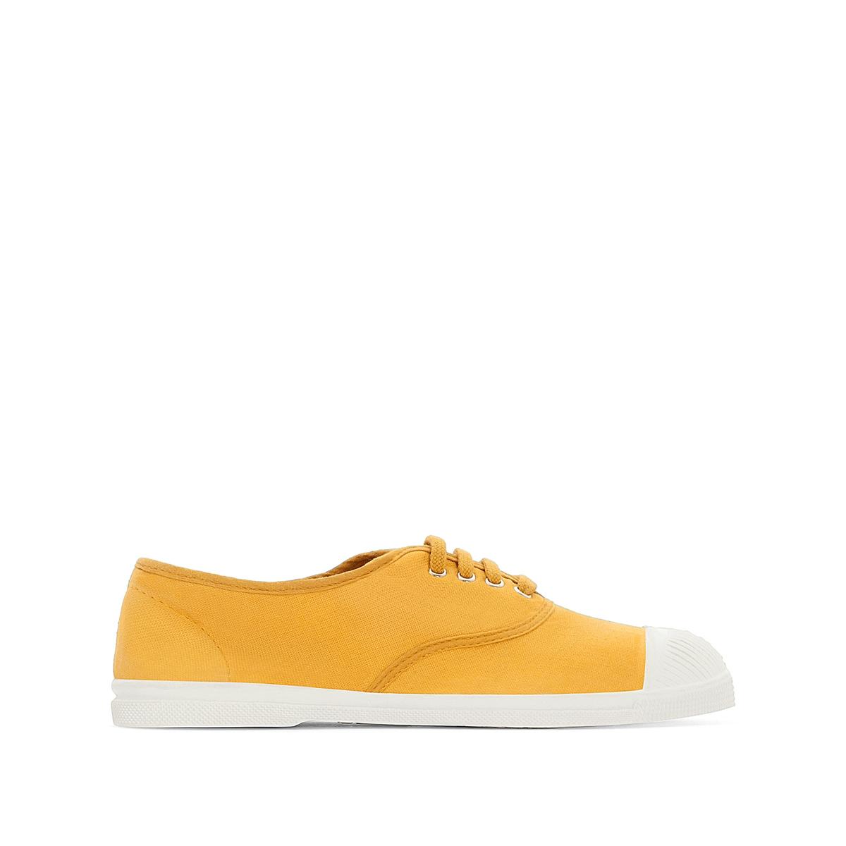 Кеды базовые на шнуровкеДетали •  Спортивный стиль. •  Плоский каблук. •  Застежка: шнуровка.Состав и уход •  Верх: 100% хлопок. •  Подкладка: 100% текстиль. •  Стелька: 100% текстиль. •  Подошва: 100% каучук.<br><br>Цвет: желтый<br>Размер: 38