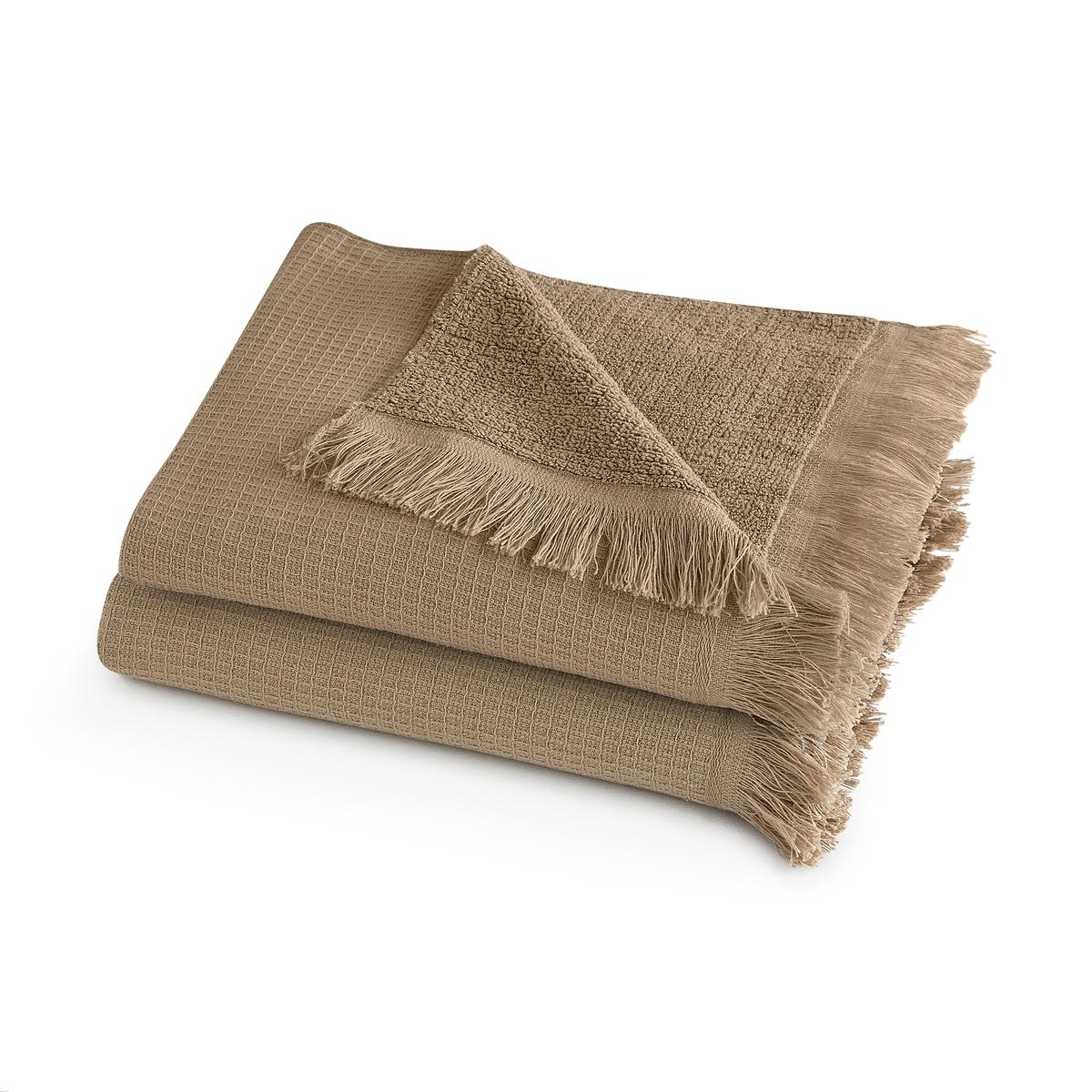 Комплект из полотенце для La Redoute Рук хлопка и льна Nipaly 50 x 100 см каштановый