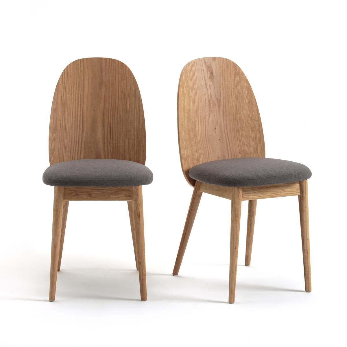 2 стула CRUESO2 стула Crueso. Дизайн в скандинавском стиле и удобное сиденье.Характеристики 2 стульев Crueso :Спинка из мультиплекса из березы и шпона дуба, НЦ-лакировка .Ножки из массива дуба с НЦ-лакировкой .Сиденье из фанеры с наполнителем ПУ, обивка из серой ткани 100% полиэстер .Накладки на ножки из войлока..Для оптимального качества и устойчивости рекомендуется надежно затянуть болты. Найдите нашу коллекцию Crueso на laredoute.ruРазмеры стульев Cruesco :Общие :Длина :  40 смВысота : 80 смГлубина : 50 смСиденье : В 47 см Размеры и вес ящика :1 упаковкаД56,5 x В99 x Г44 см . 14 кгДоставка :2 стула Crueso продаются готовыми к сборке Доставка товара до квартиры по предварительной договоренности! Внимание!Убедитесь в том, что товар возможно доставить на дом, учитывая его габариты (проходит в двери, по лестницам, в лифты).<br><br>Цвет: серый