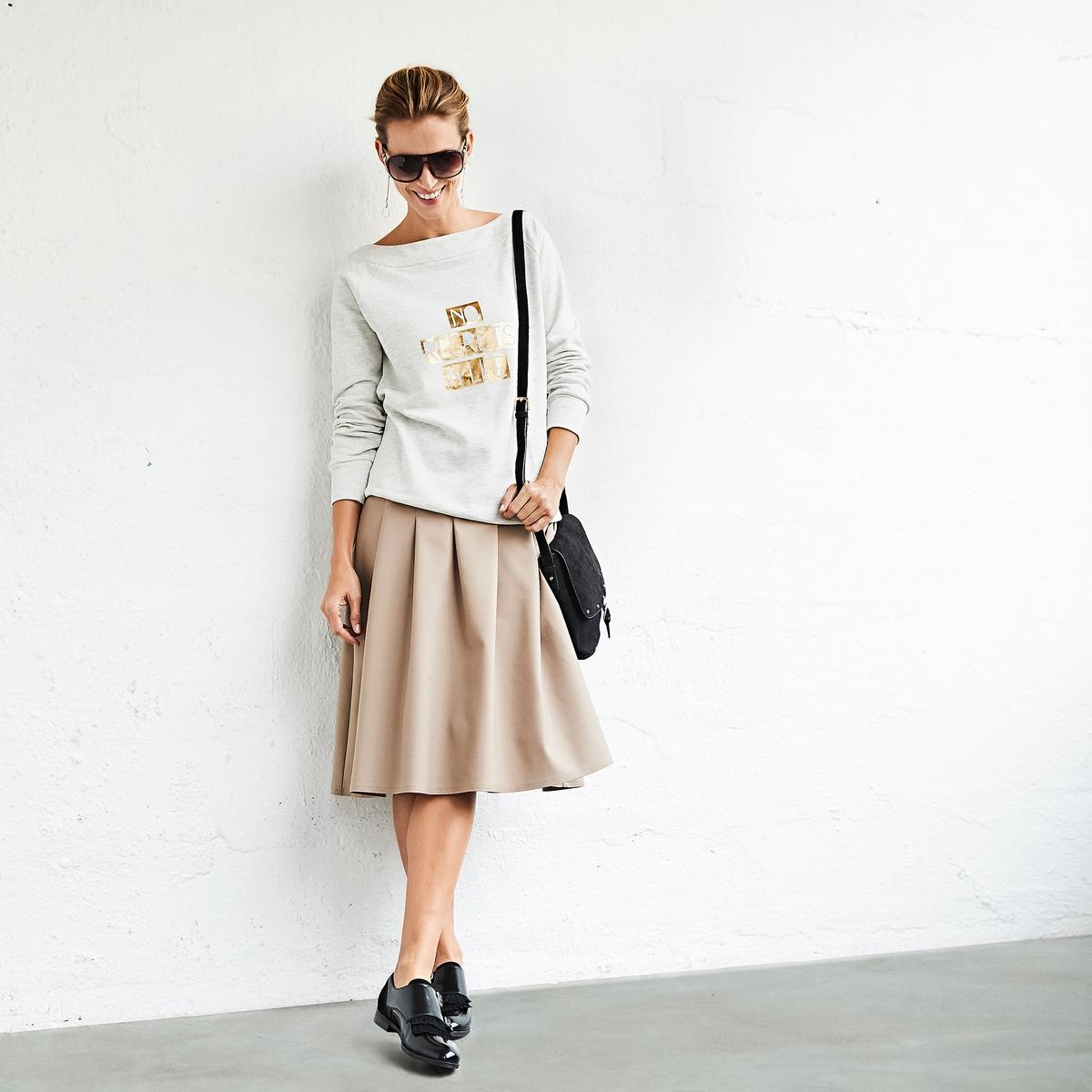 Imagen principal de producto de Falda con pliegue delante y detrás, semilarga - Anne weyburn