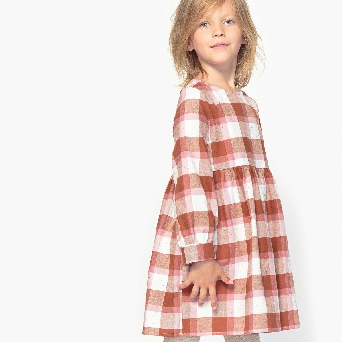 Платье в клетку, 3-12 лет