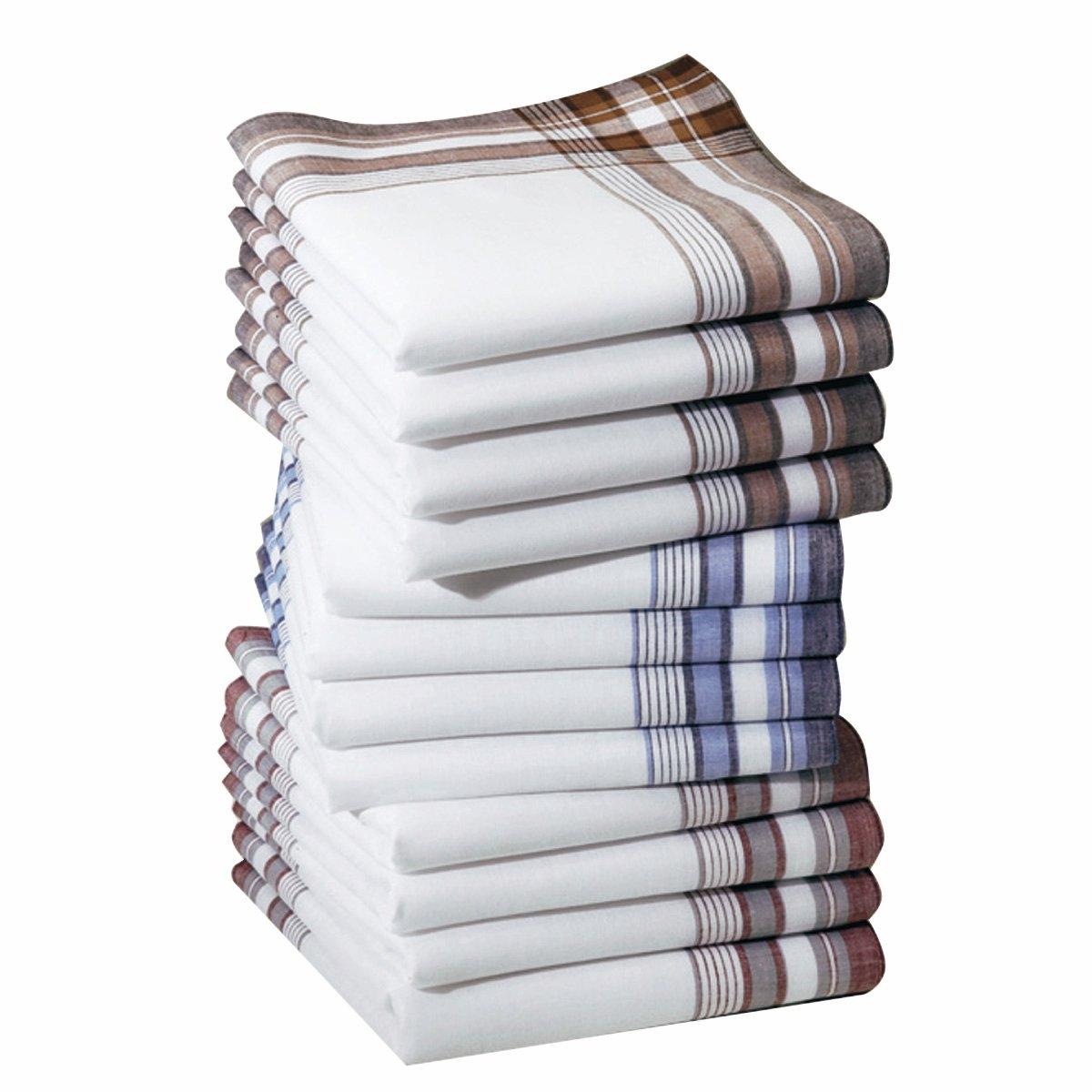 12 носовых платков12 носовых платков из 100% хлопка. Превосходное сочетание цена/качество! Стирка при 60°. Размер: 40 х 40 см.<br><br>Цвет: разноцветный<br>Размер: комплект из 12
