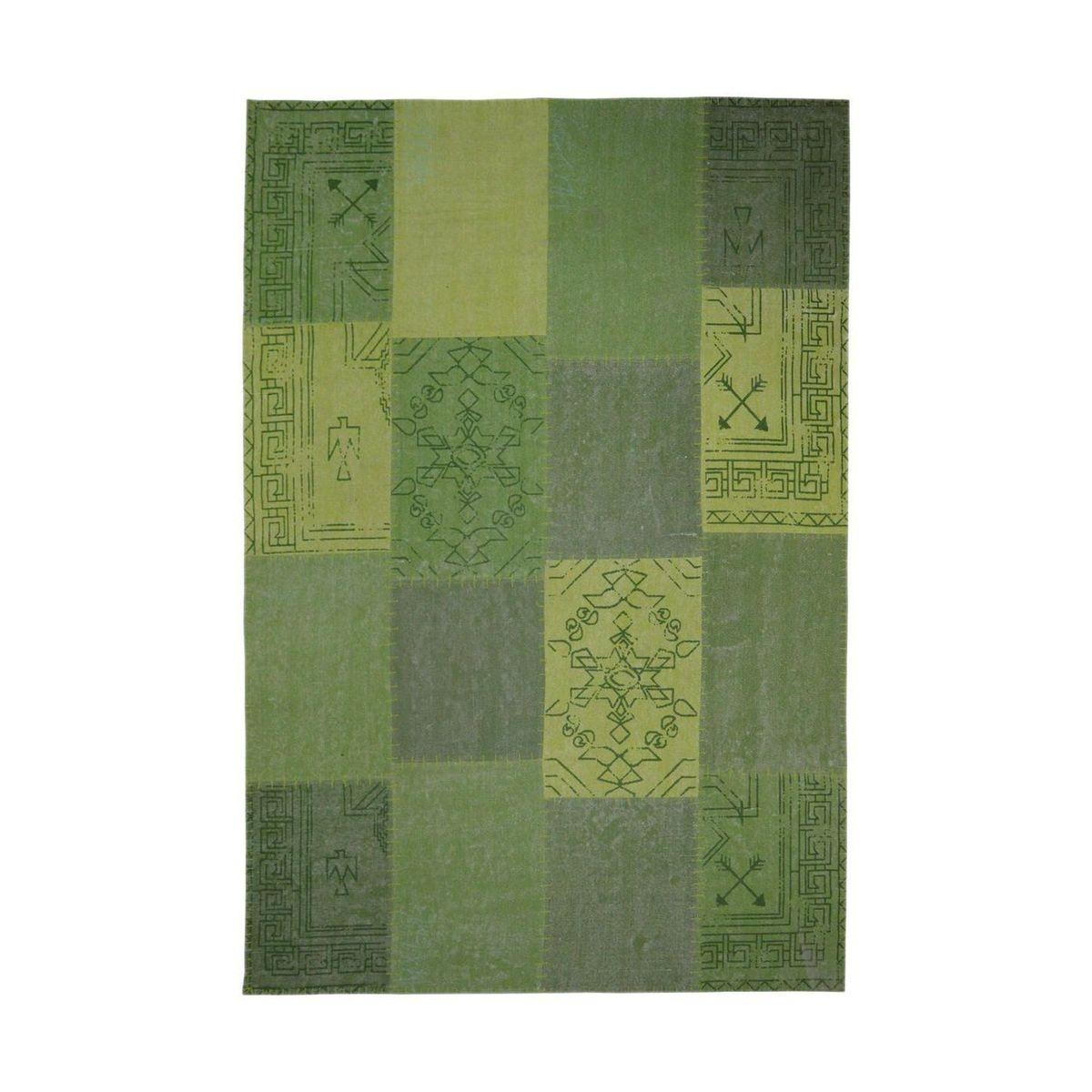 Tapis fait à la main 210 Lyrical Multi Vert