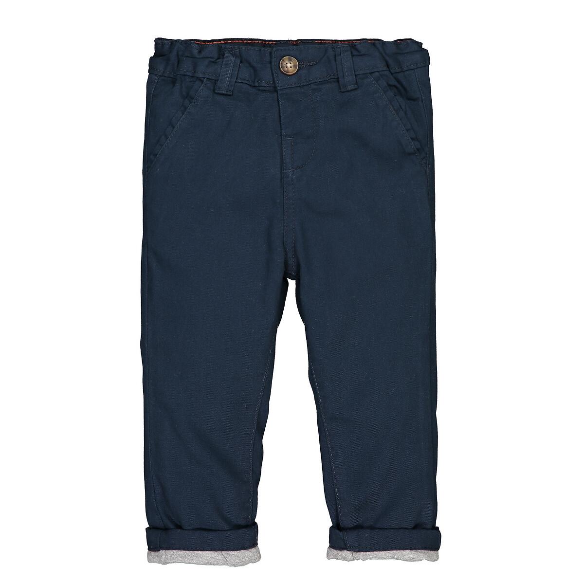 Calças chino, forro em jersey, 1 mês-3 anos