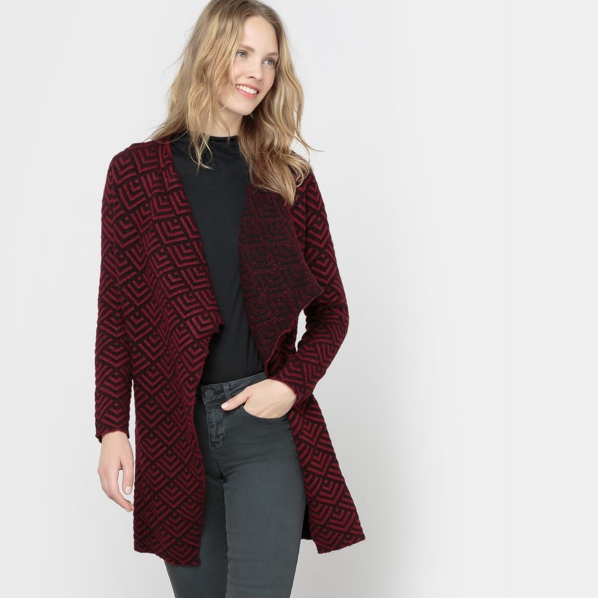 Пальто легкое из жаккардовой ткани