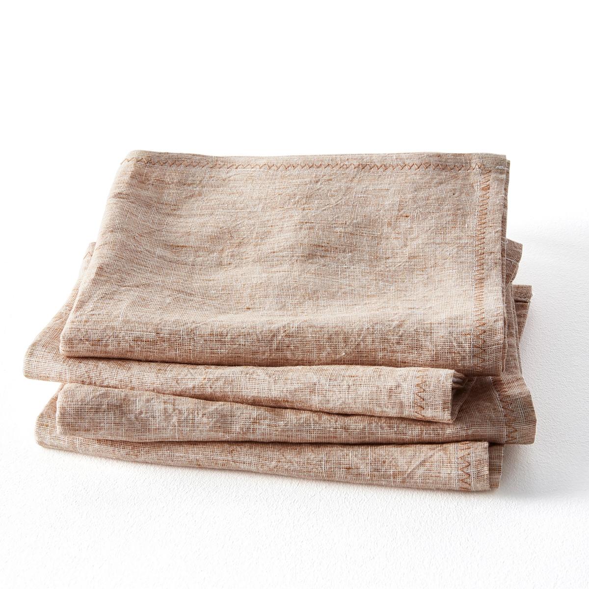 Confezione da 4 tovaglioli in lino, Chandraki
