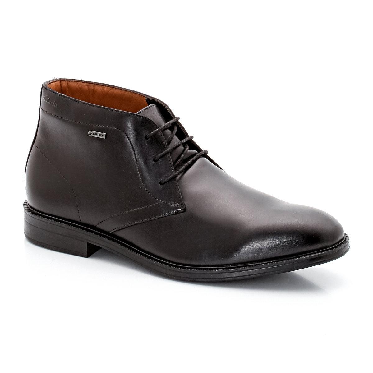 Ботинки кожаные Chilver HiДетали  •  Высота голенища : 14 см, размер 37 •  Высота каблука : 3 см •  Застежка : шнуровка •  Круглый мысокСостав и уход   •  Верх 100% яловичная кожа •  Подкладка 100% текстиль •  Стелька 100% кожа •  Подошва 100% каучук<br><br>Цвет: черный