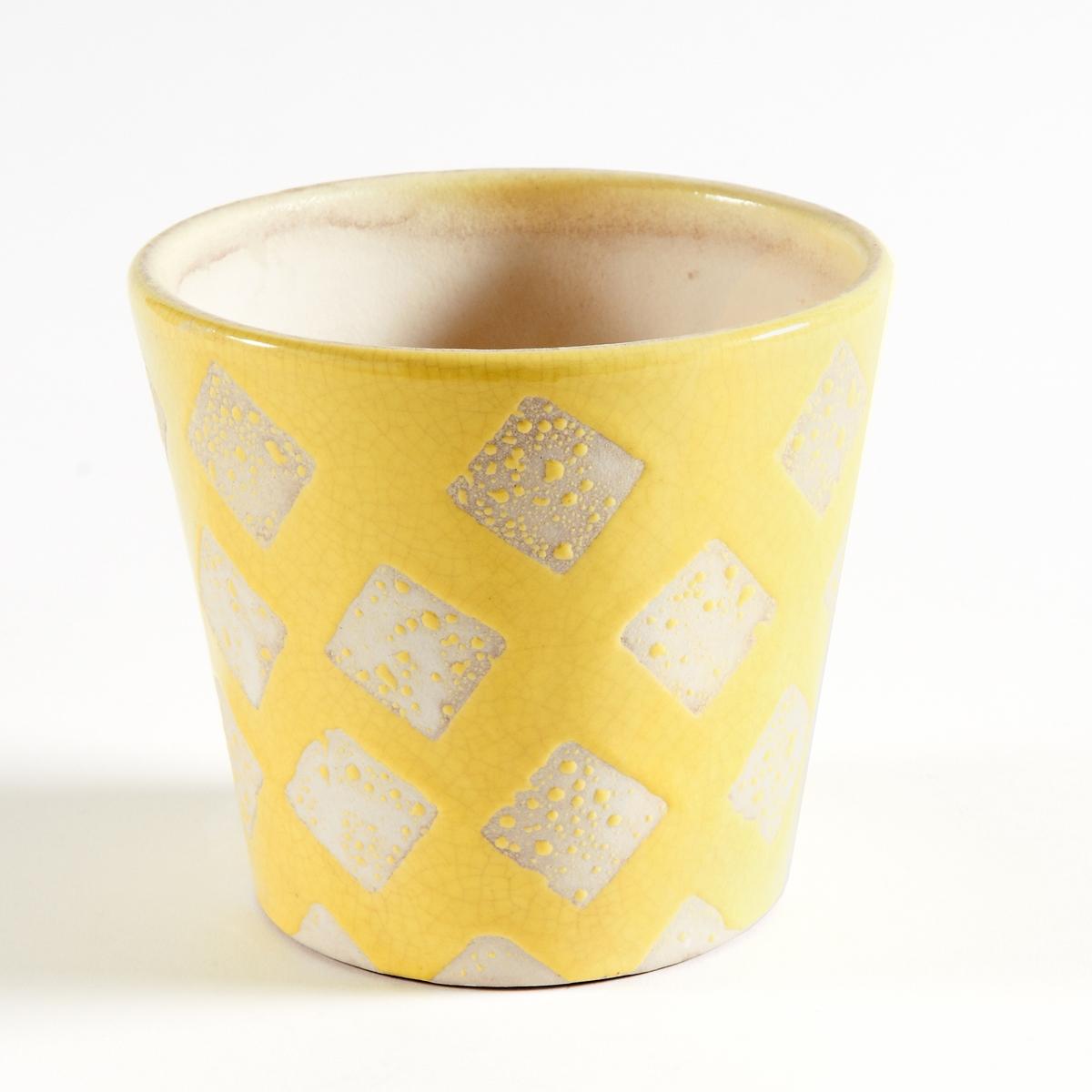 Кашпо из керамики, покрытой глазурью, EtnimaКашпо Etnima придаст яркий стиль благодаря этническим рисункам по периметру. Характеристики круглого кашпо из керамики Etnima :Круглое кашпо из керамики, покрытой глазурью, с этническим рисунком.Размеры круглого кашпо из керамики Etnima :Размеры : диаметр 14 x высота 12,5 см.<br><br>Цвет: оранжевый,светло-розовый,синий,темно-розовый<br>Размер: единый размер.единый размер