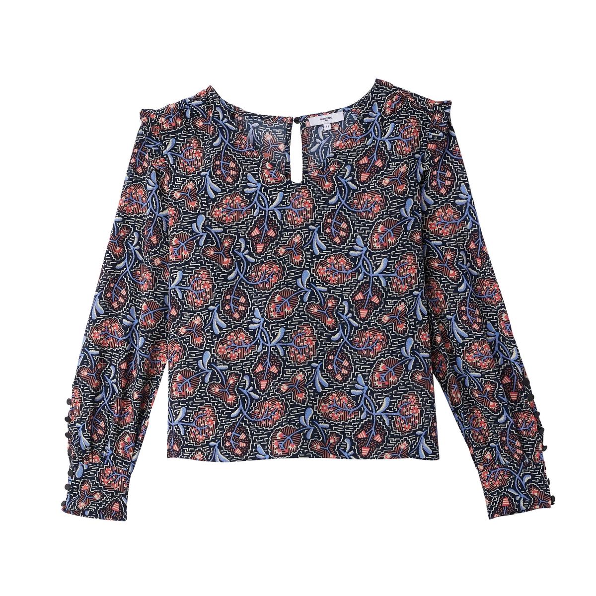 Блузка с принтом в этническом стиле LINA блузка с вышивкой в этническом стиле