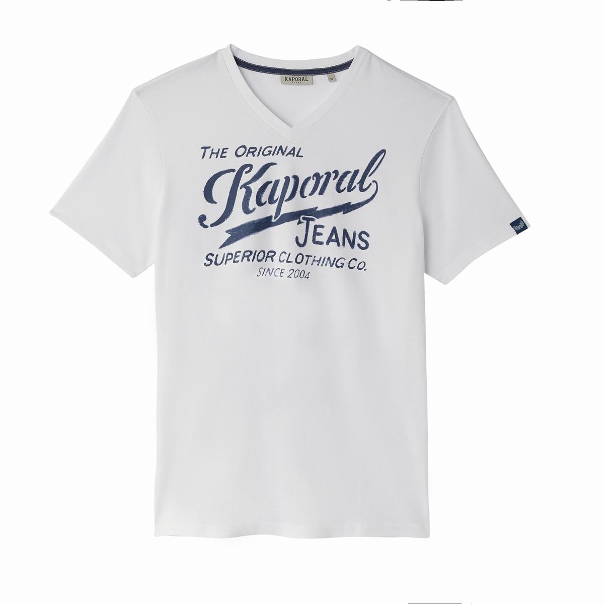 Футболка с V-образным вырезом и короткими рукавами Bruce семь волков мужской чистого цвета хлопка с короткими рукавами футболки v образным вырезом донизу рубашки летние спортивные 98714 белый xxl