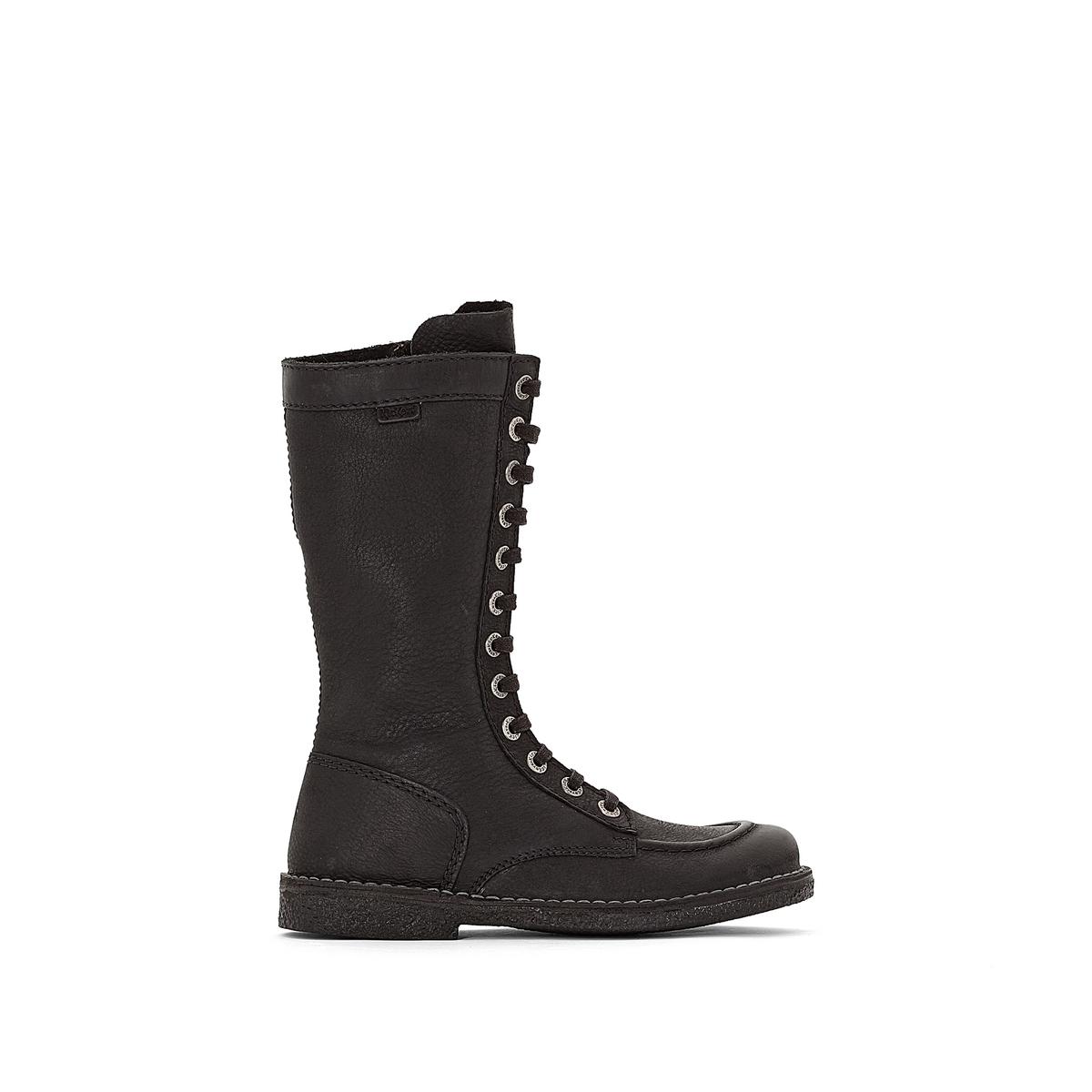 Ботинки кожаные на шнуровке, MEETKIKNE