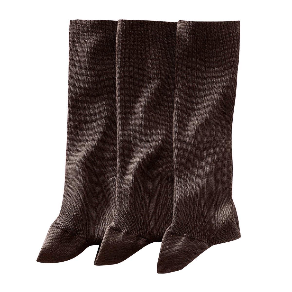 3 пары носков, 85% фильдекосаДля информации: носки темно-серого цвета имеют синеватый оттенок (что незаметно на фотографии).* фильдекос:Натуральная тонкая пряжа,  скручиваемая из нескольких ниток, которую используют только для производства носков самого высокого качества: Чтобы пряжа получила право носить имя фильдекос, она должна пройти 5 ступеней обработки:- Она производится только из длинных волокон хлопка.- Затем хлопок прочесывают, чтобы удалить все посторонние включения.- Операция опаливания позволяет устранить с поверхности все выступающие кончики, а значит, предотвратить скатывание ткани в дальнейшем.- Кручение пряжи, когда из двух нитей получают одну, значительно повышает ее прочность.- Наконец, мерсеризация придает ткани превосходную способность впитывать влагу тела (лучше, чем у классического хлопкового волокна), а также дарит ткани мягкость и атласный внешний вид.Чтобы дольше сохранить превосходное качество изделия, рекомендуем стирать его, вывернув наизнанку.<br><br>Цвет: антрацит,каштановый,черный<br>Размер: 39/40.39/40