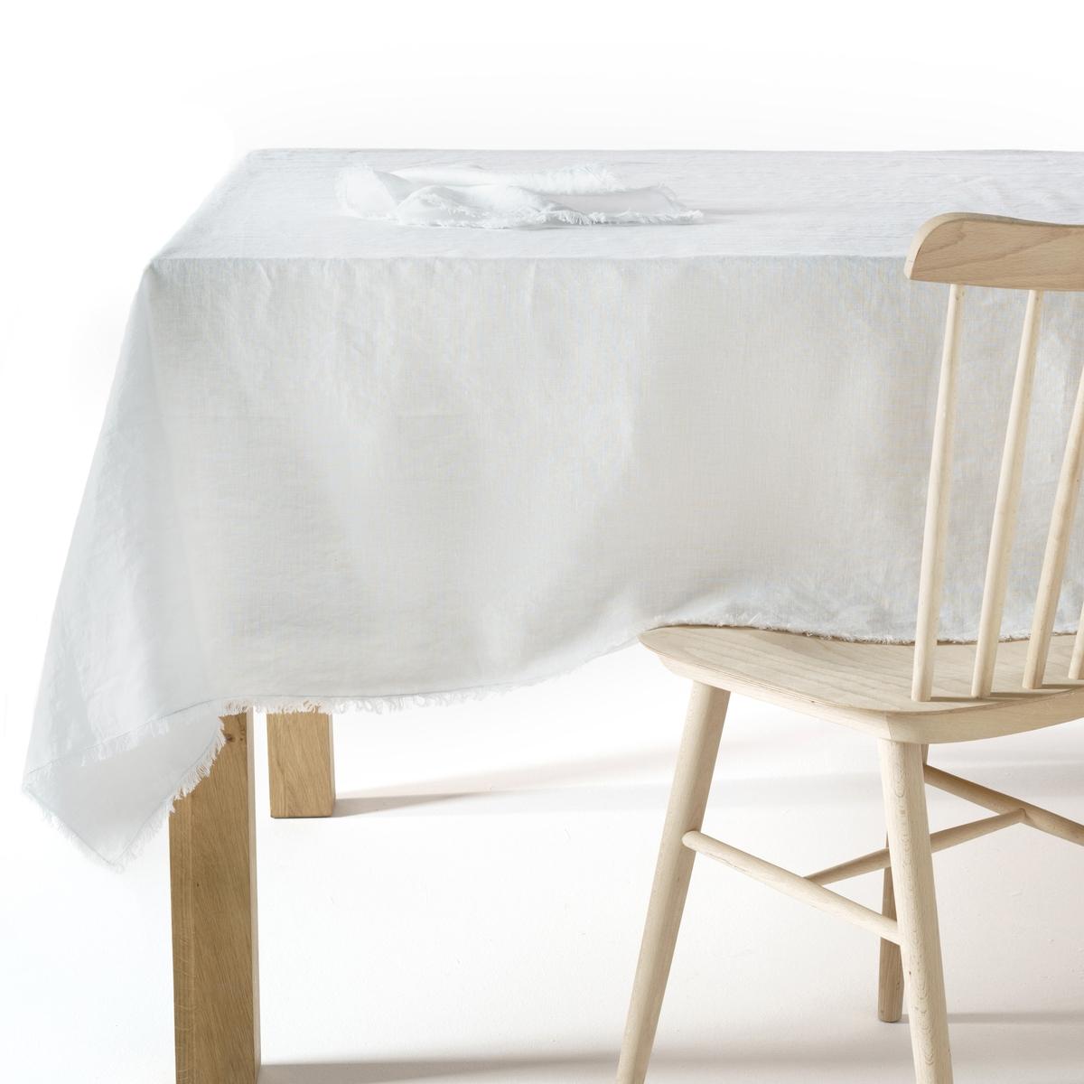 Скатерть LaRedoute Из стиранного льна Yastigi 150 x 150 см белый