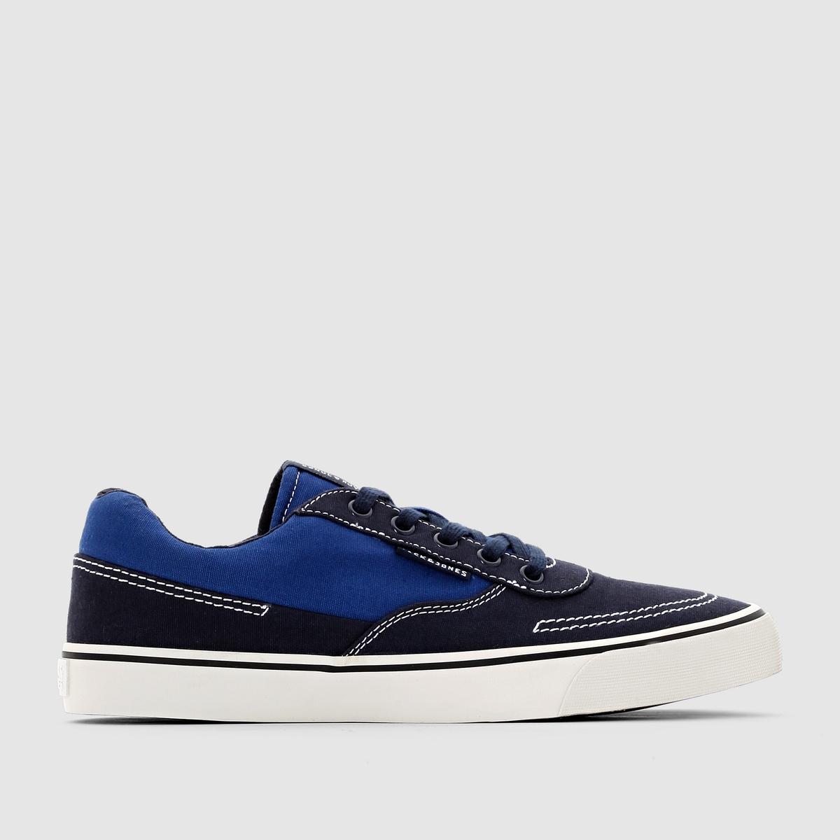 Кеды низкие JJ Shark CanvasJack &amp; Jones создает спортивную и одновременно модную обувь. Праобразом этих низких кед является обувь для яхтсменов. Очень актуальная модель в этом сезоне!<br><br>Цвет: синий морской<br>Размер: 44.41