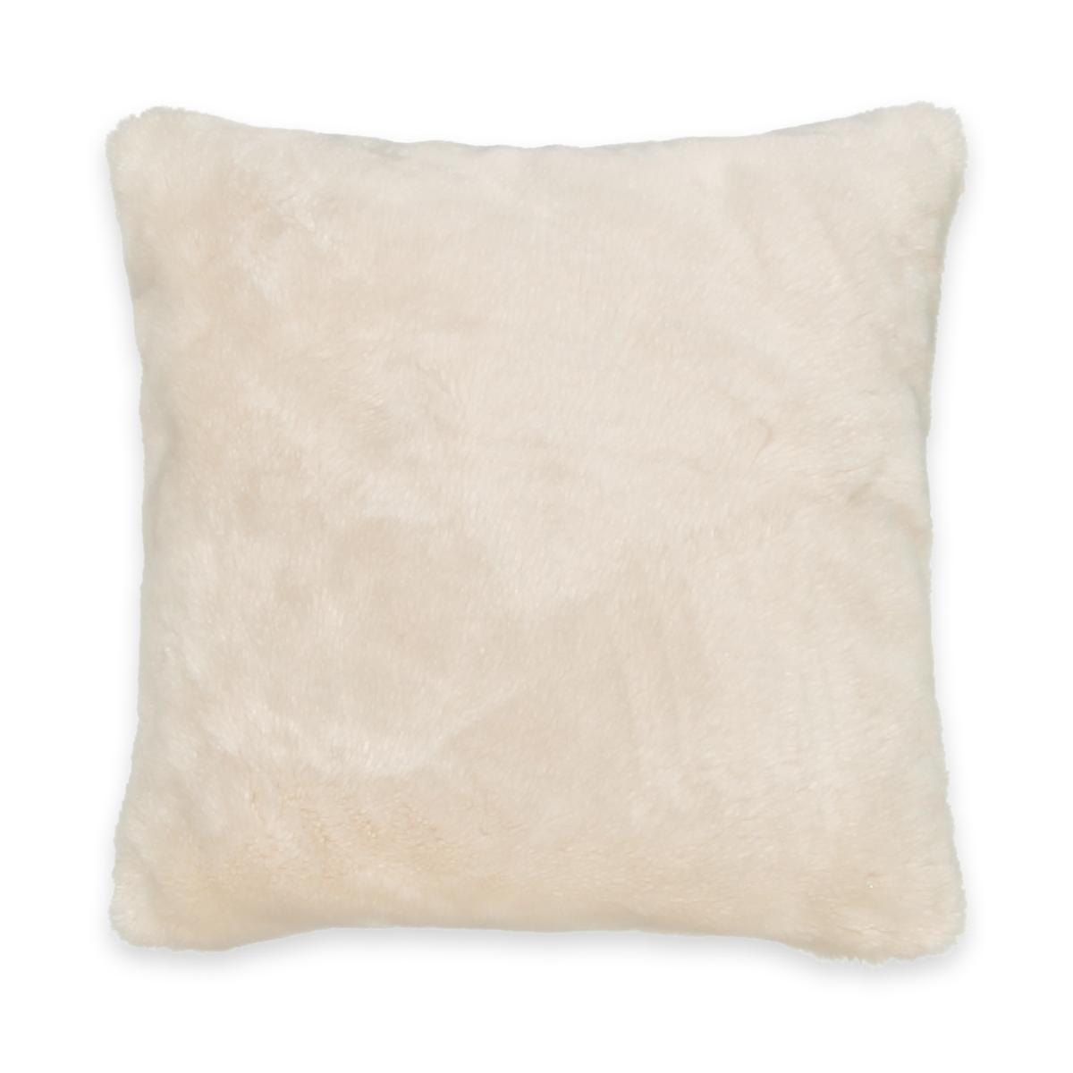 Чехол La Redoute Для подушки из искусственного меха KANPUR 50 x 30 см бежевый льняной la redoute чехол для подушки georgette 50 x 30 см желтый