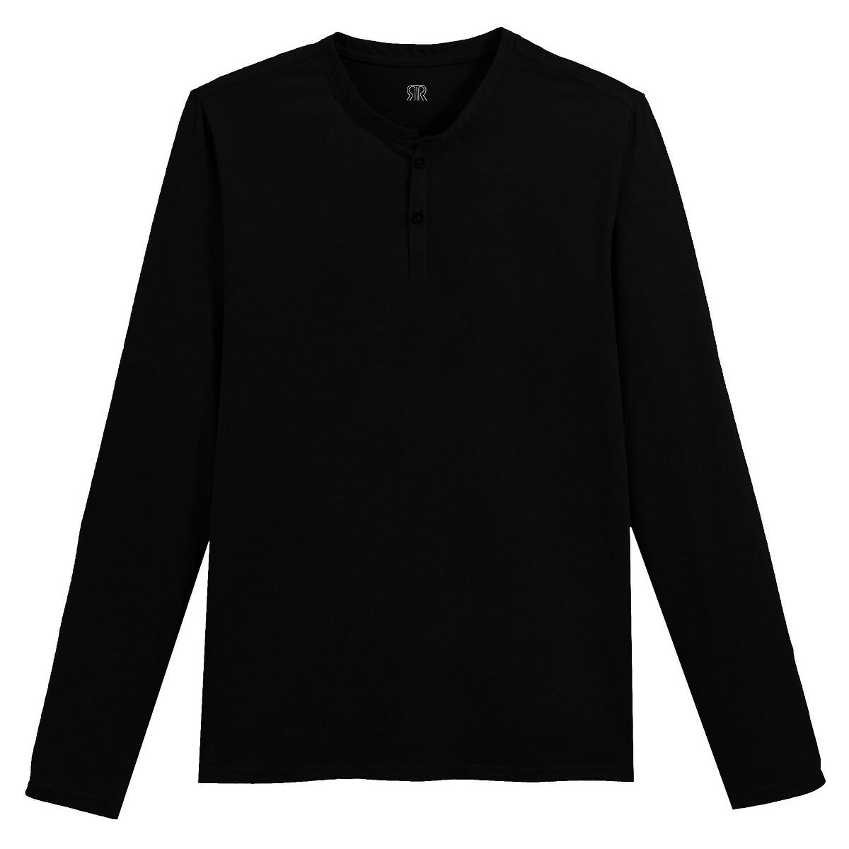 Camisola de mangas compridas, decote tunisino