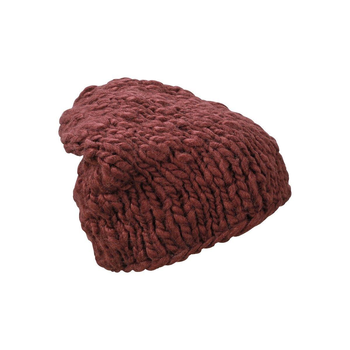 Bonnet tricoté maille large