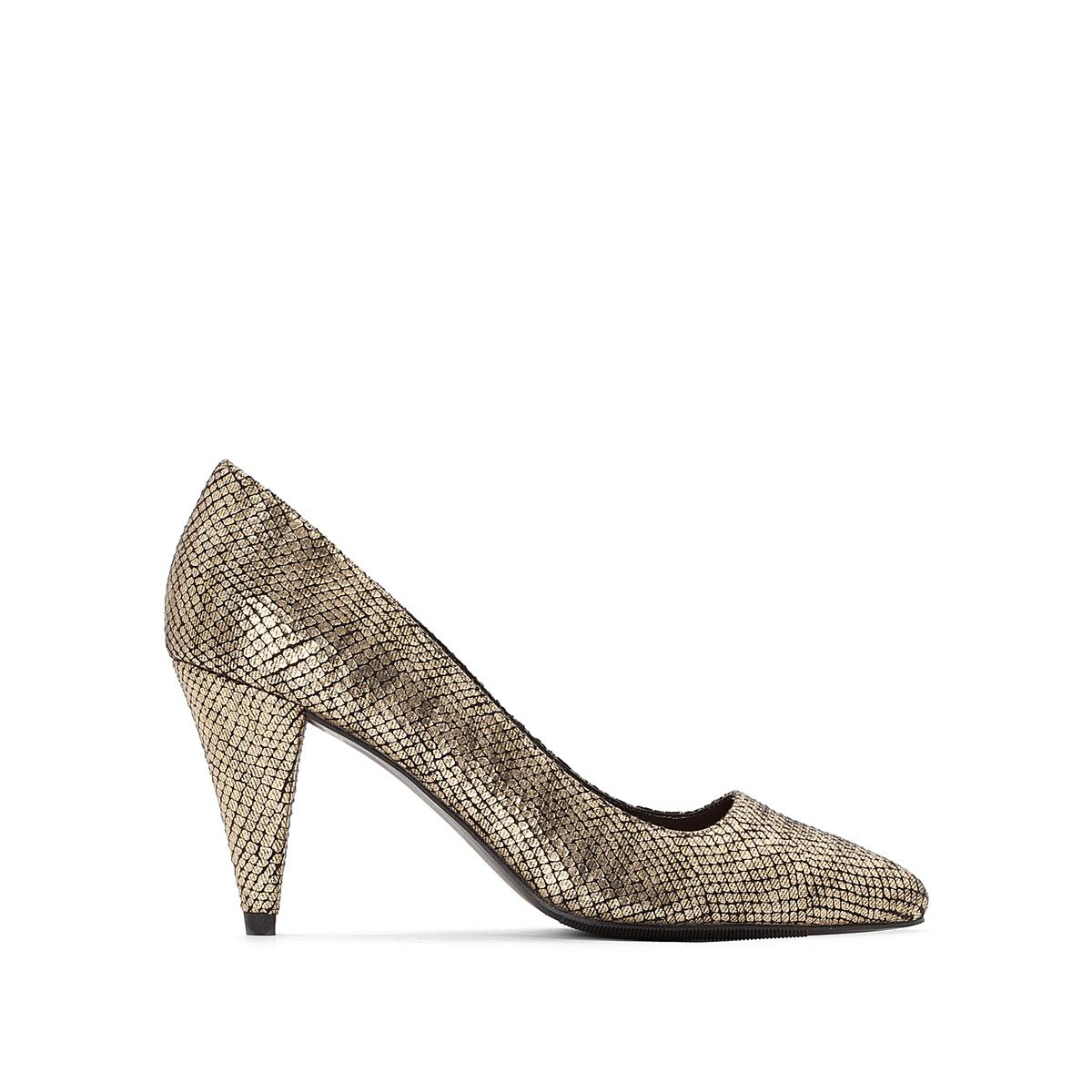 Туфли на высоком каблуке под кожу рептилии золотистого цвета цены онлайн