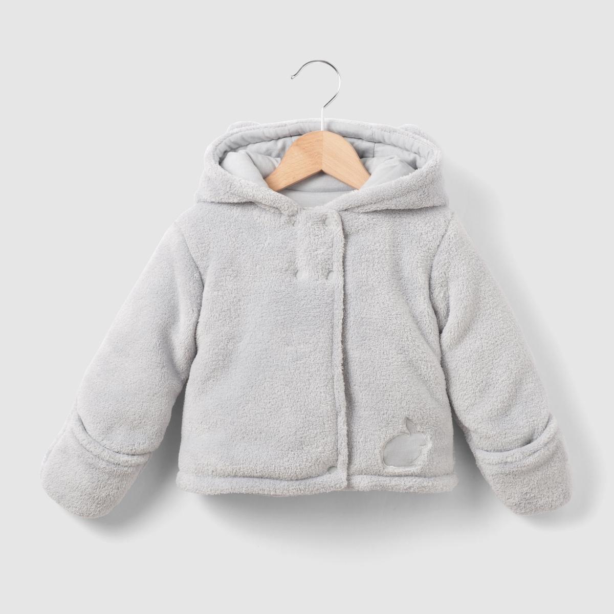 Пальто флисовое с капюшоном на 0 мес.- 3 года