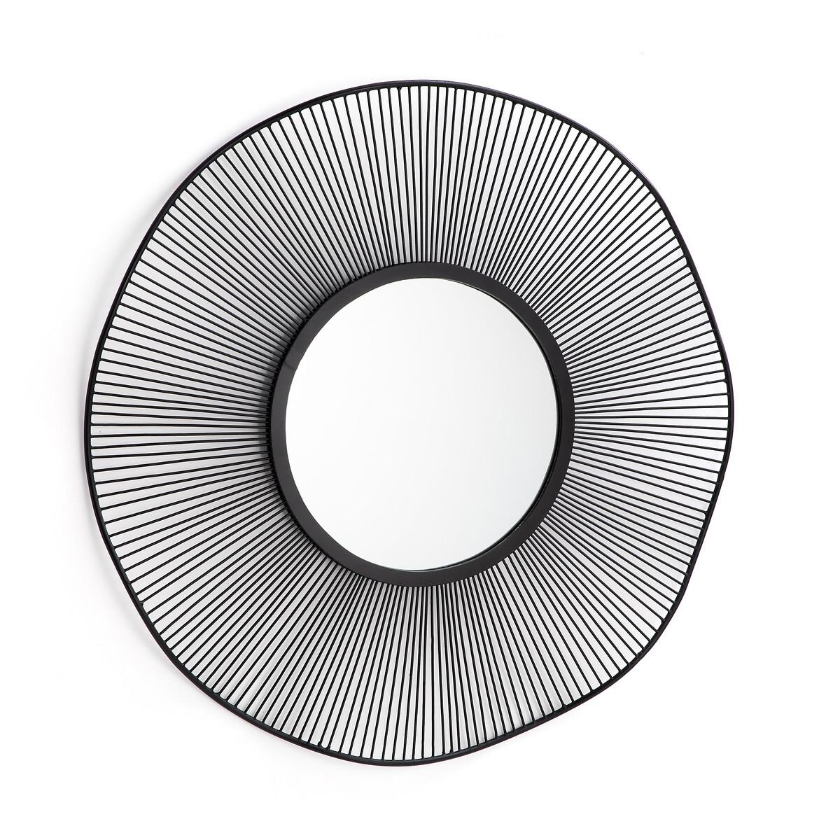 Зеркало LaRedoute В виде солнца из проволоки Spyk единый размер черный