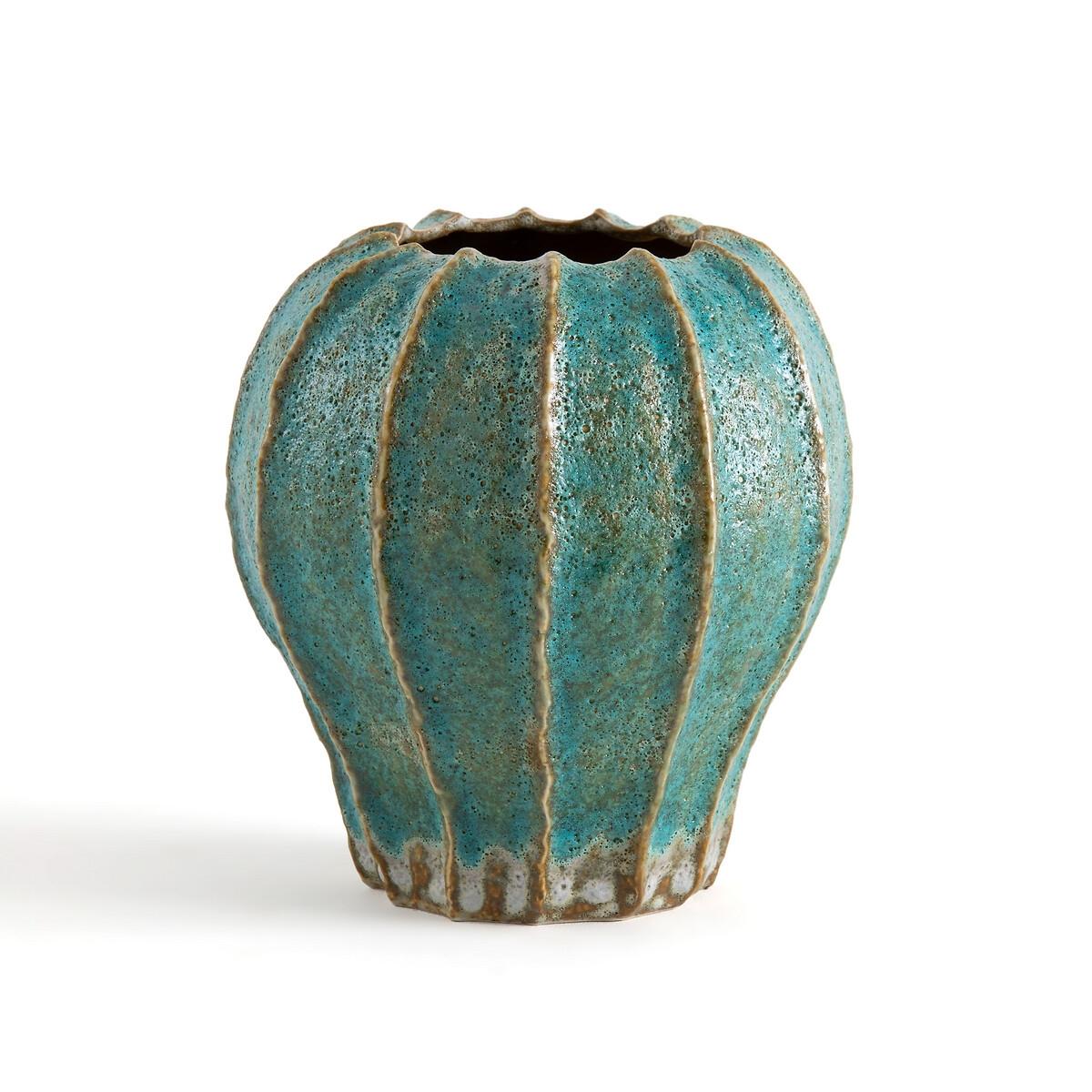 Ваза La Redoute Из эмалированной керамики В247 см Oursin единый размер синий миски la redoute из эмалированной керамики attale единый размер каштановый