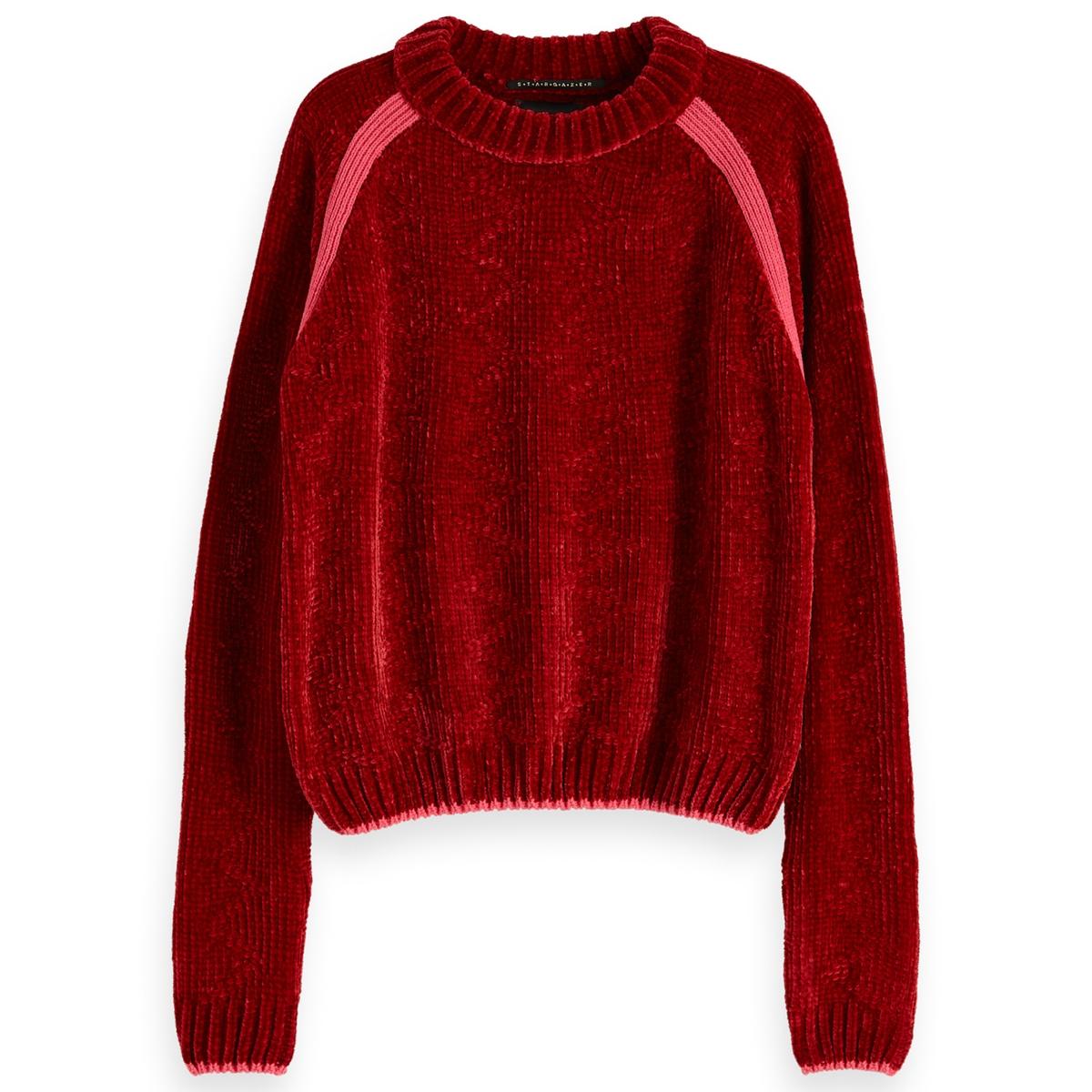 Пуловер La Redoute С круглым вырезом из тонкого трикотажа M красный пуловер la redoute с вырезом лодочкой из тонкого трикотажа m красный